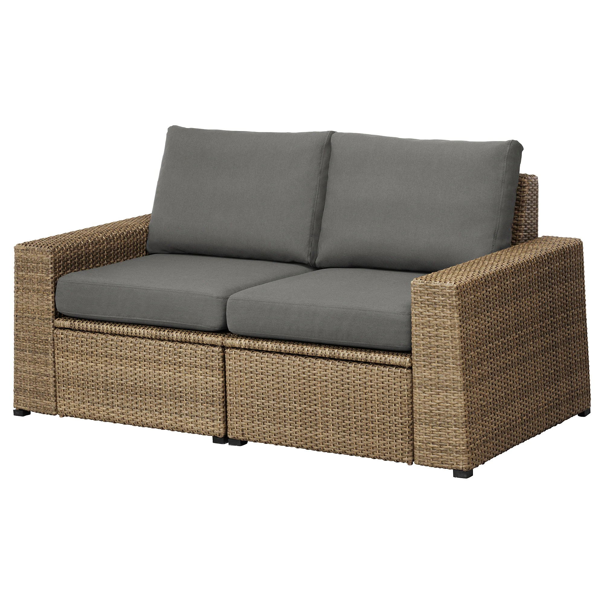 Outdoor Sofa SollerÖn 2 Seat Modular Sofa Outdoor Brown Hållö Beige