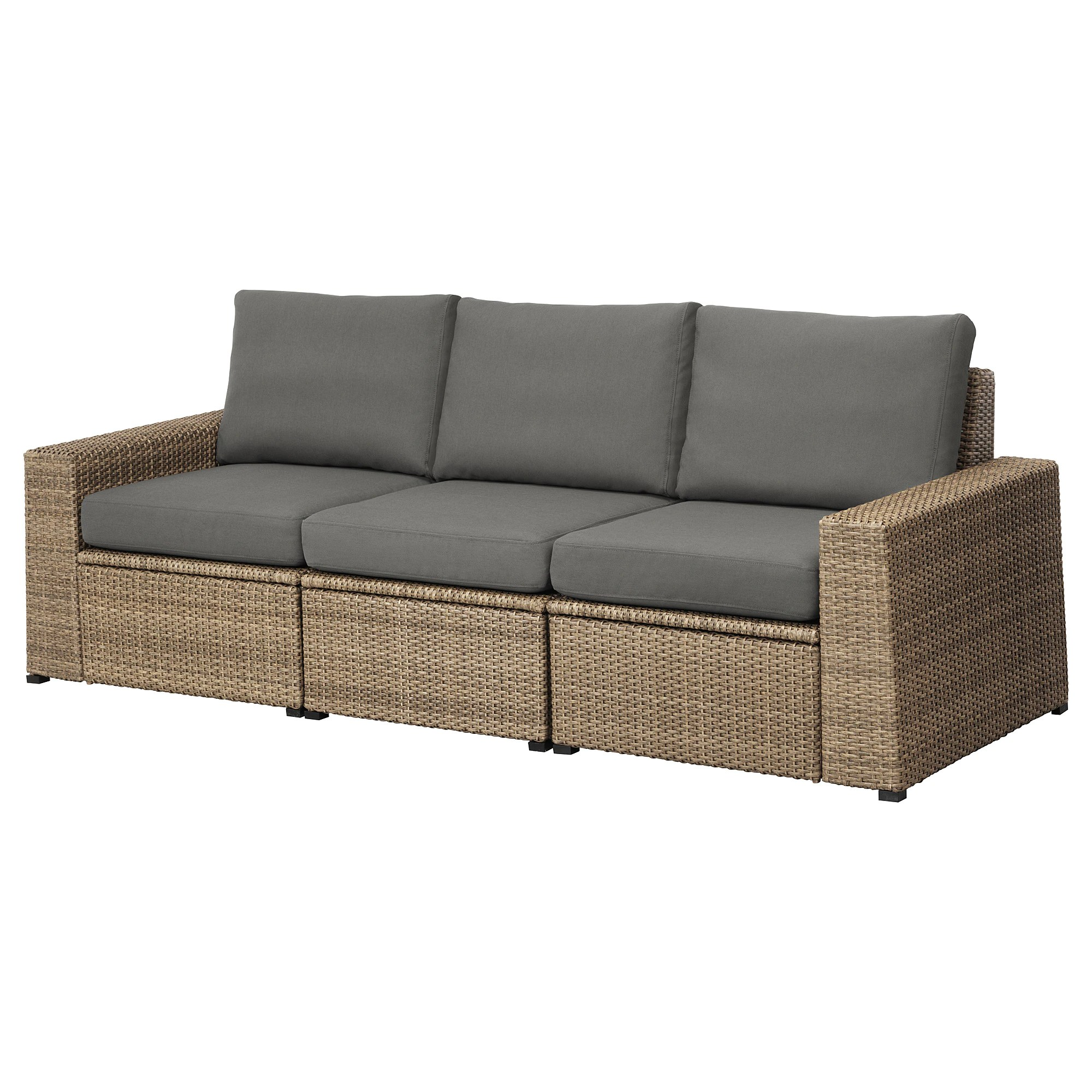 Cheap Modular Lounges SollerÖn 3 Seat Modular Sofa Outdoor Brown Frösön Duvholmen Dark Gray