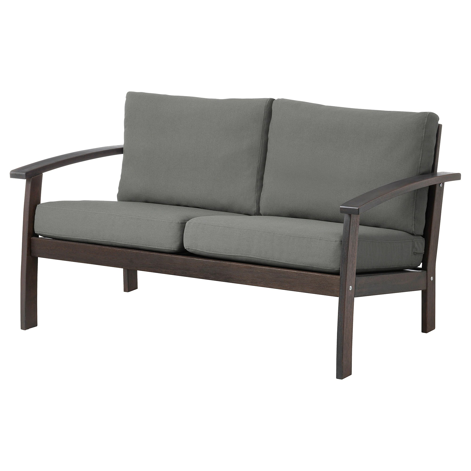 Ikea Loveseat KlÖven Loveseat Outdoor Brown Stained Frösön Duvholmen Dark Gray