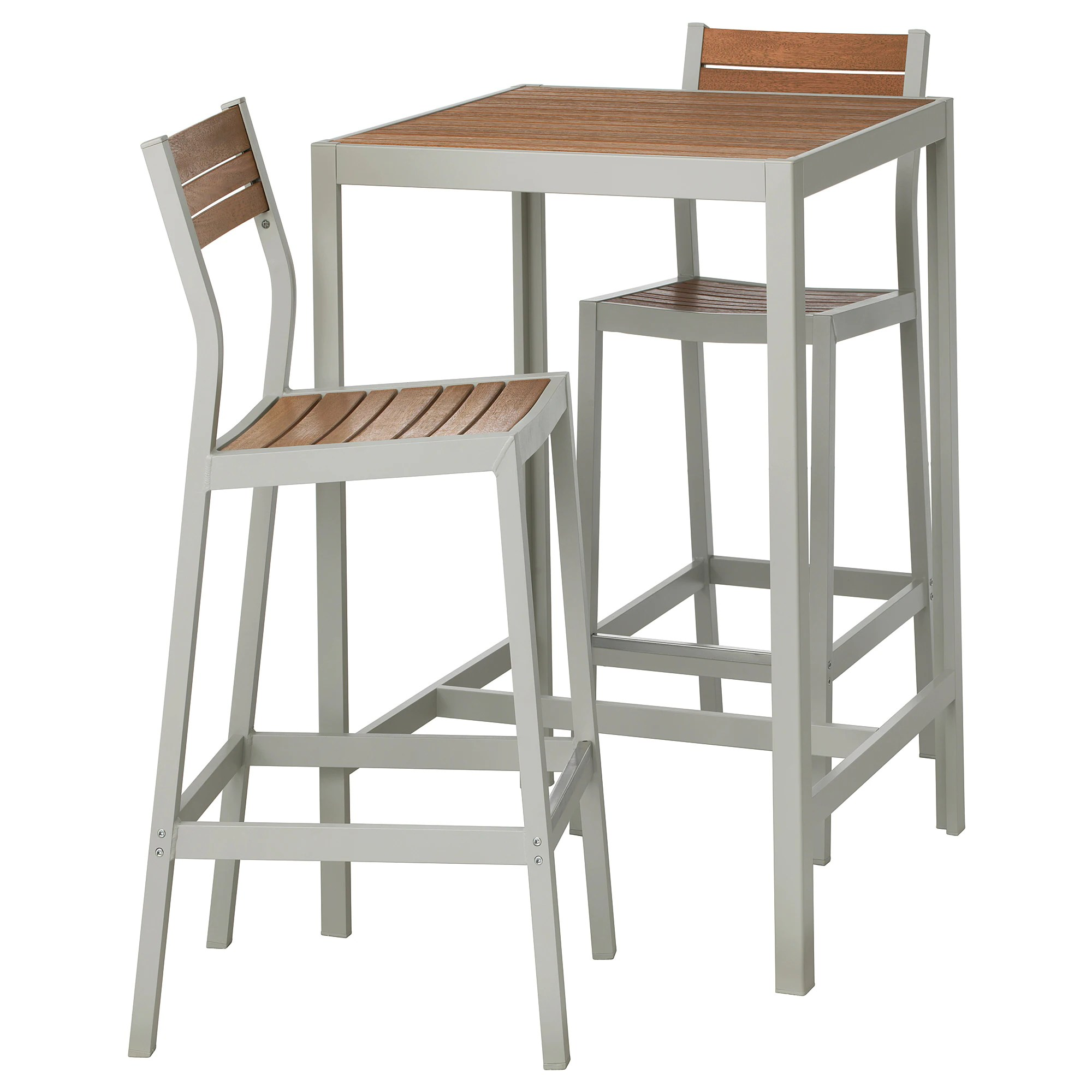 Table Bar Ikea SjÄlland Bar Table And 2 Bar Stools Outdoor Light Brown Light Gray