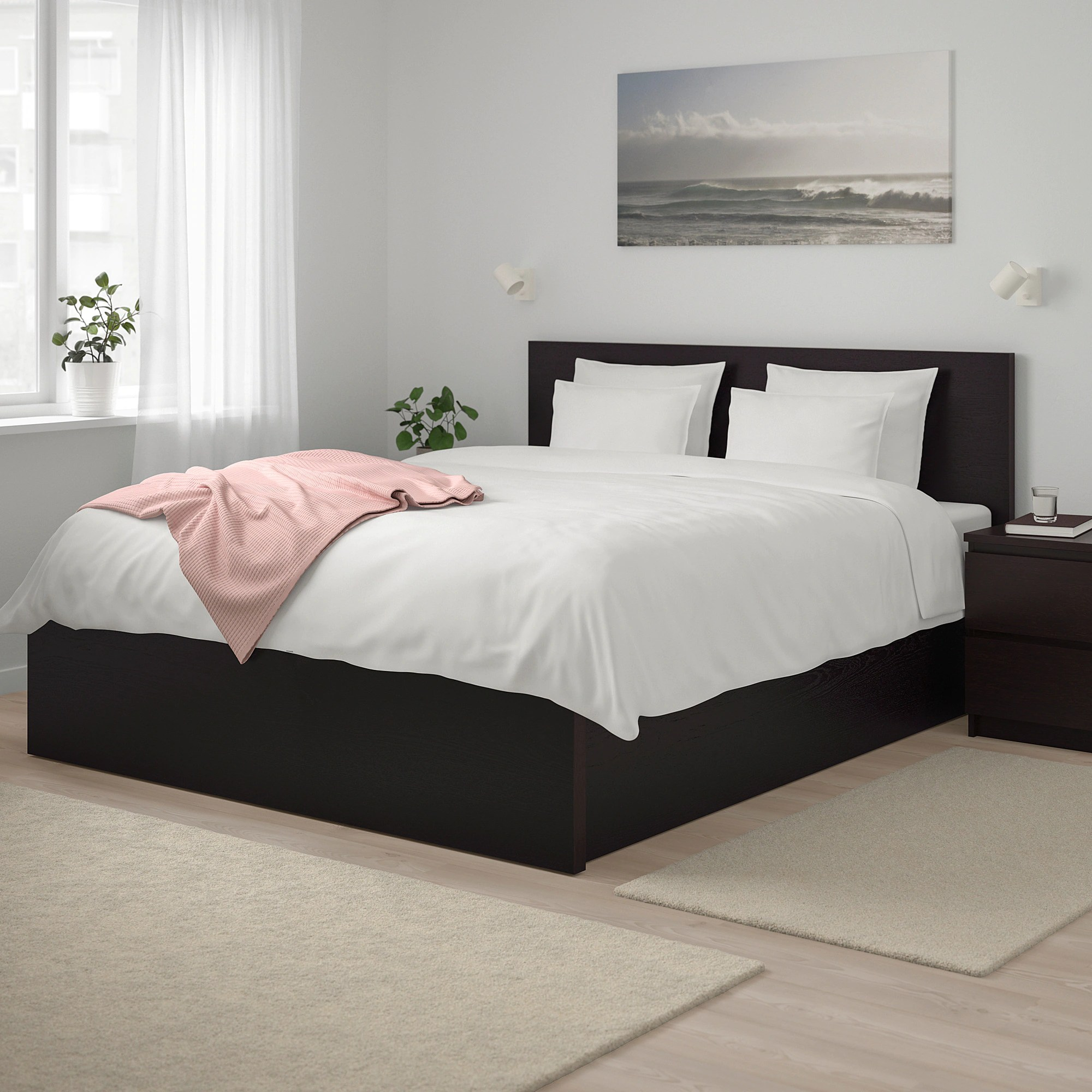 Lifting Beds Malm Storage Bed Black Brown