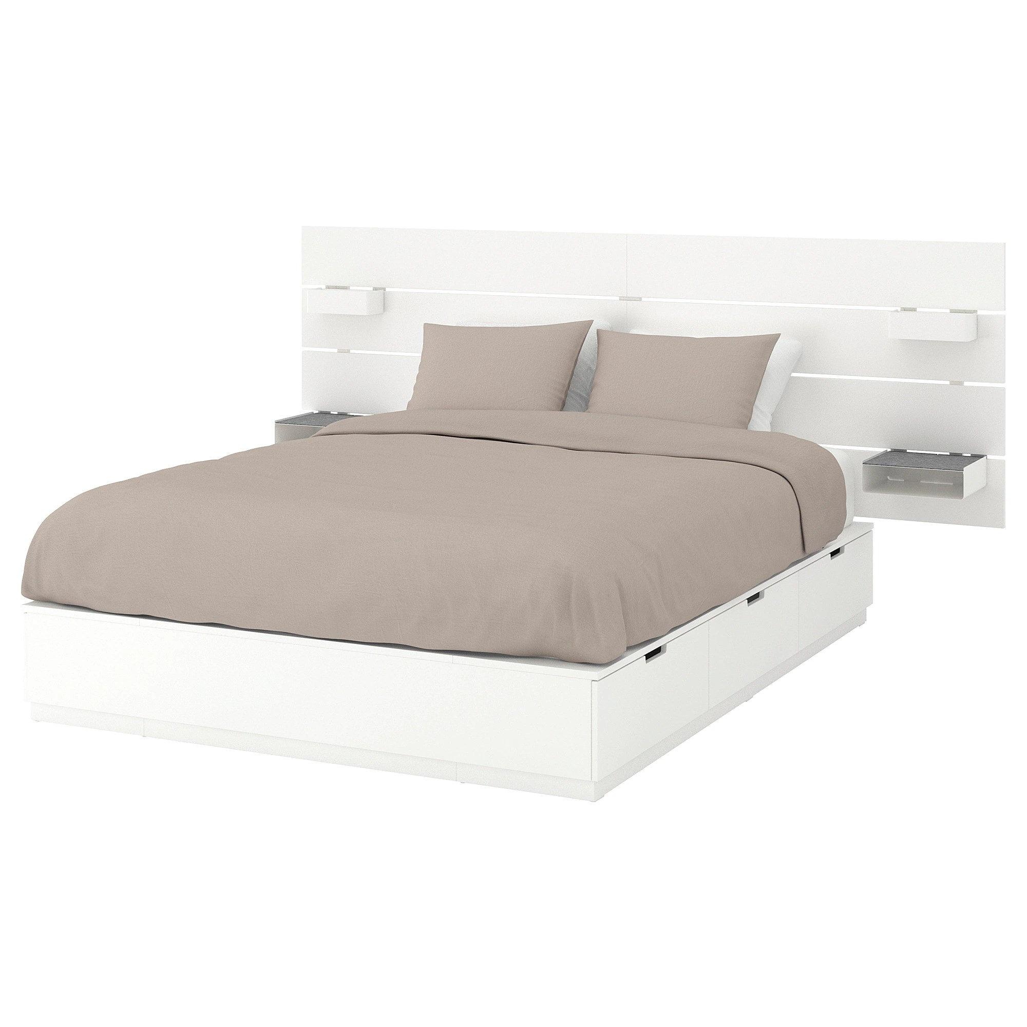 Ikea Brimnes Bett 160x200 Bed Frame W Storage And Headboard Nordli White
