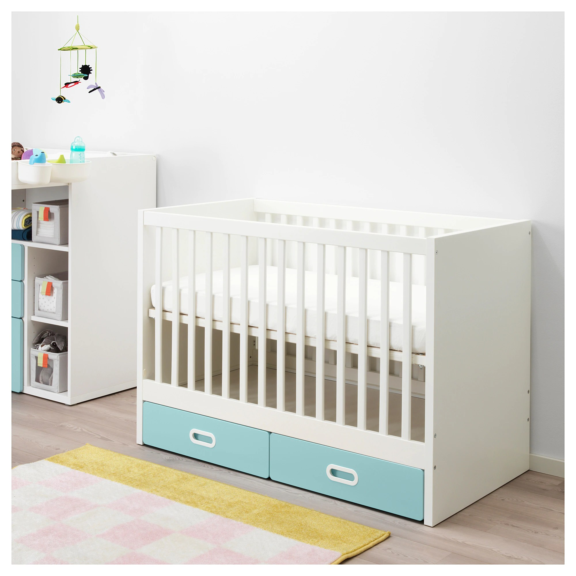 Stuva Lit Stuva Fritids Cot With Drawers Light Blue