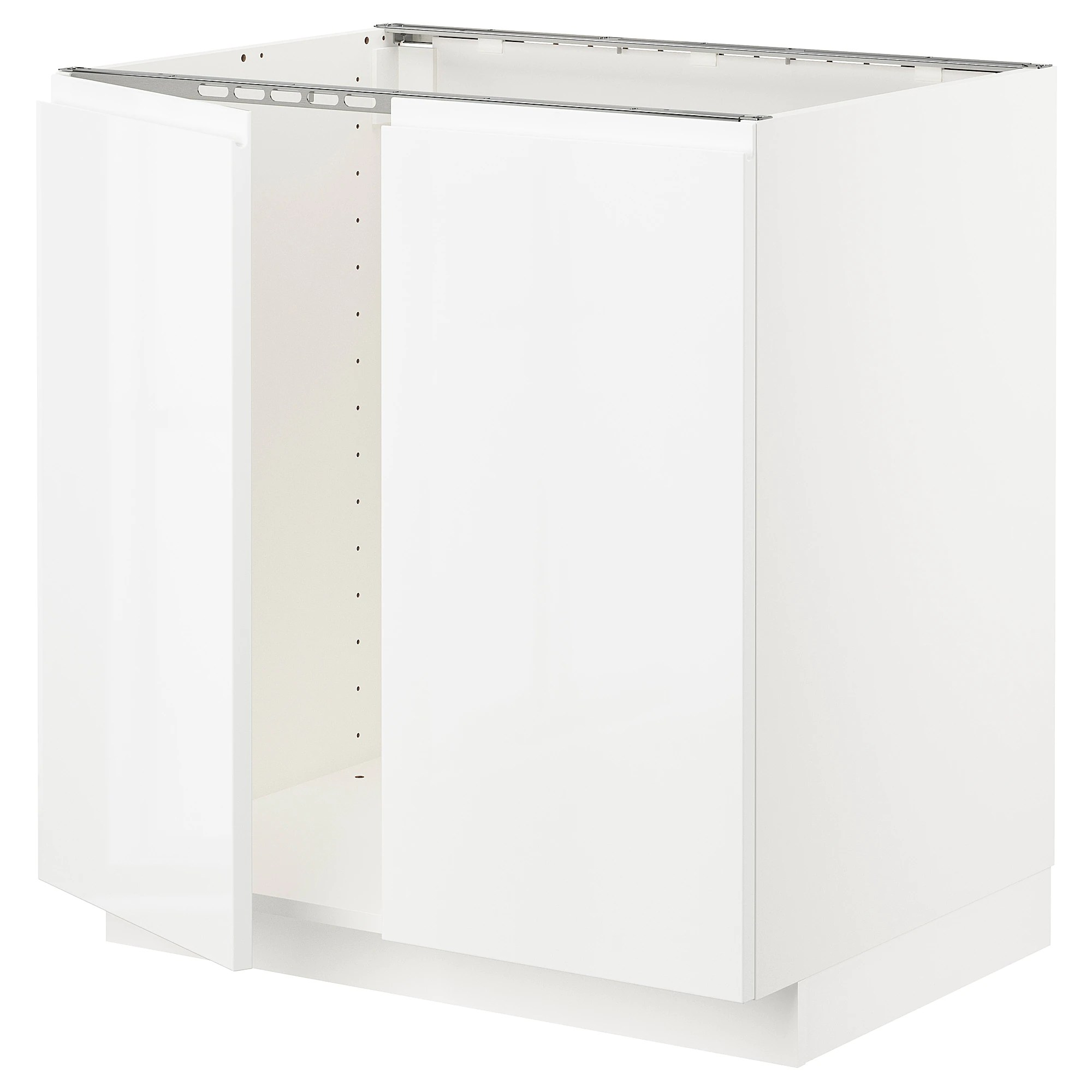 Cucina Ikea Tingsryd Jarsta Metod Base Cabinet For Sink 2 Doors White Tingsryd Black