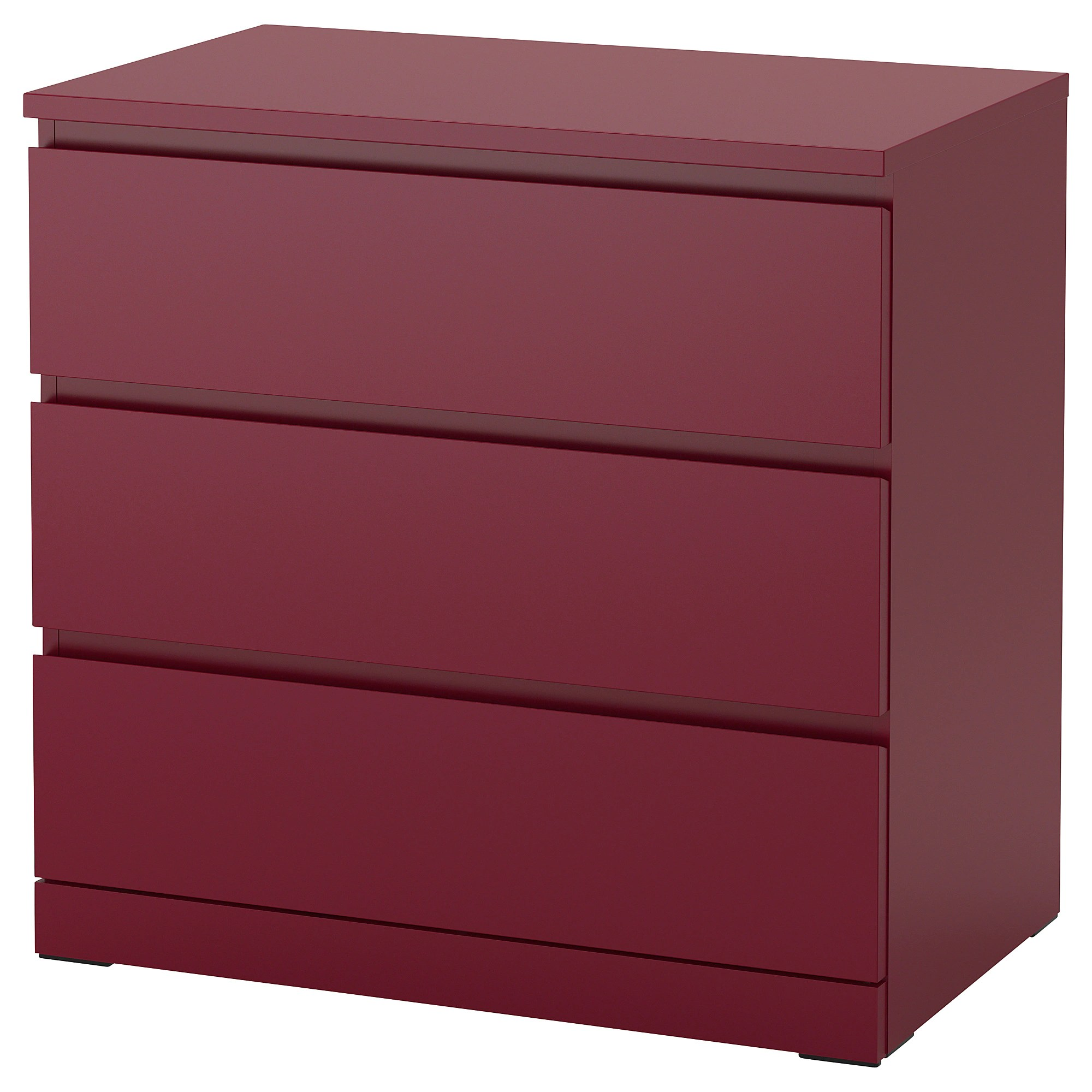 Ikea Malm Kommode Youtube Malm 3 Drawer Chest Dark Red