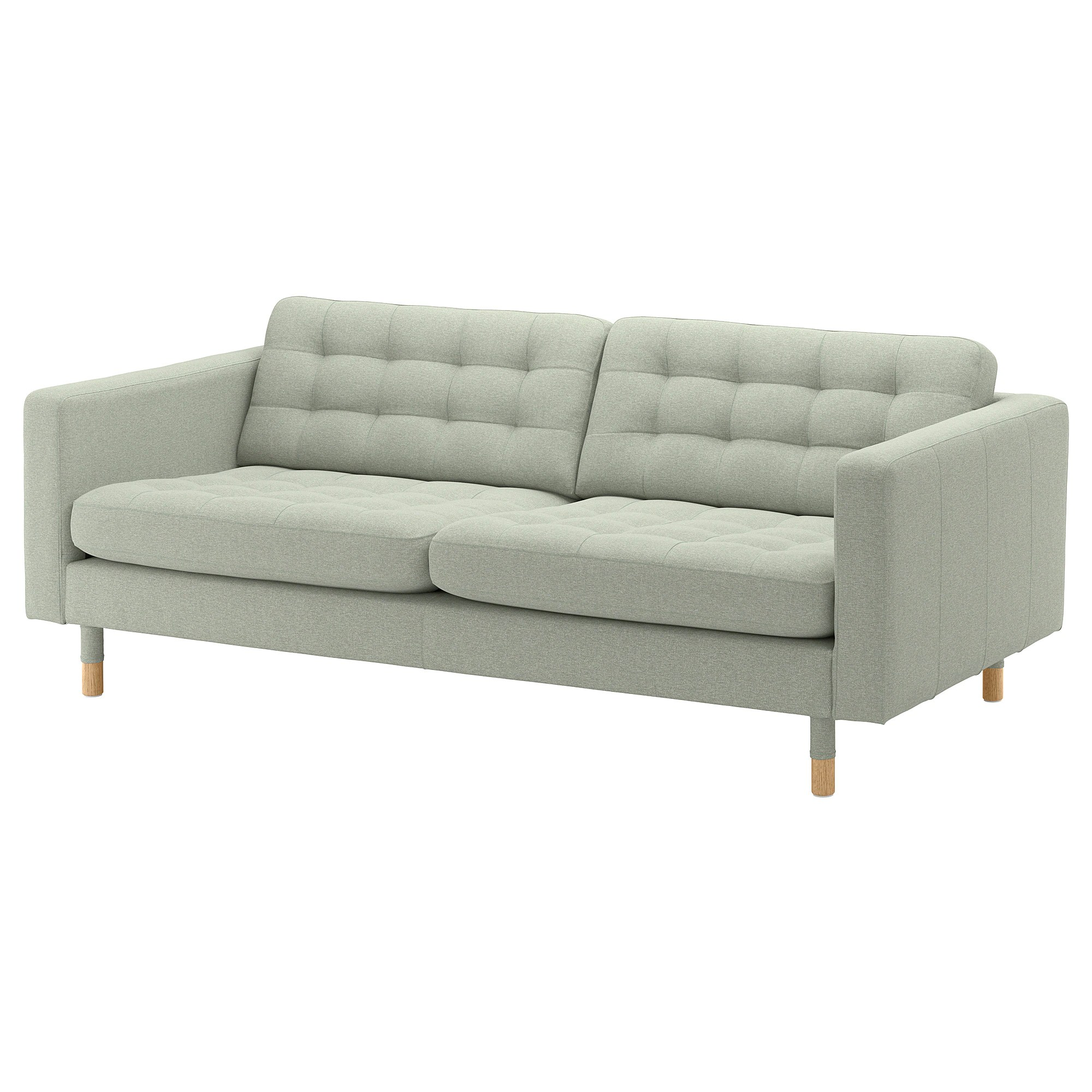 Sofa Ikea Landskrona Sofa Gunnared Light Green Wood