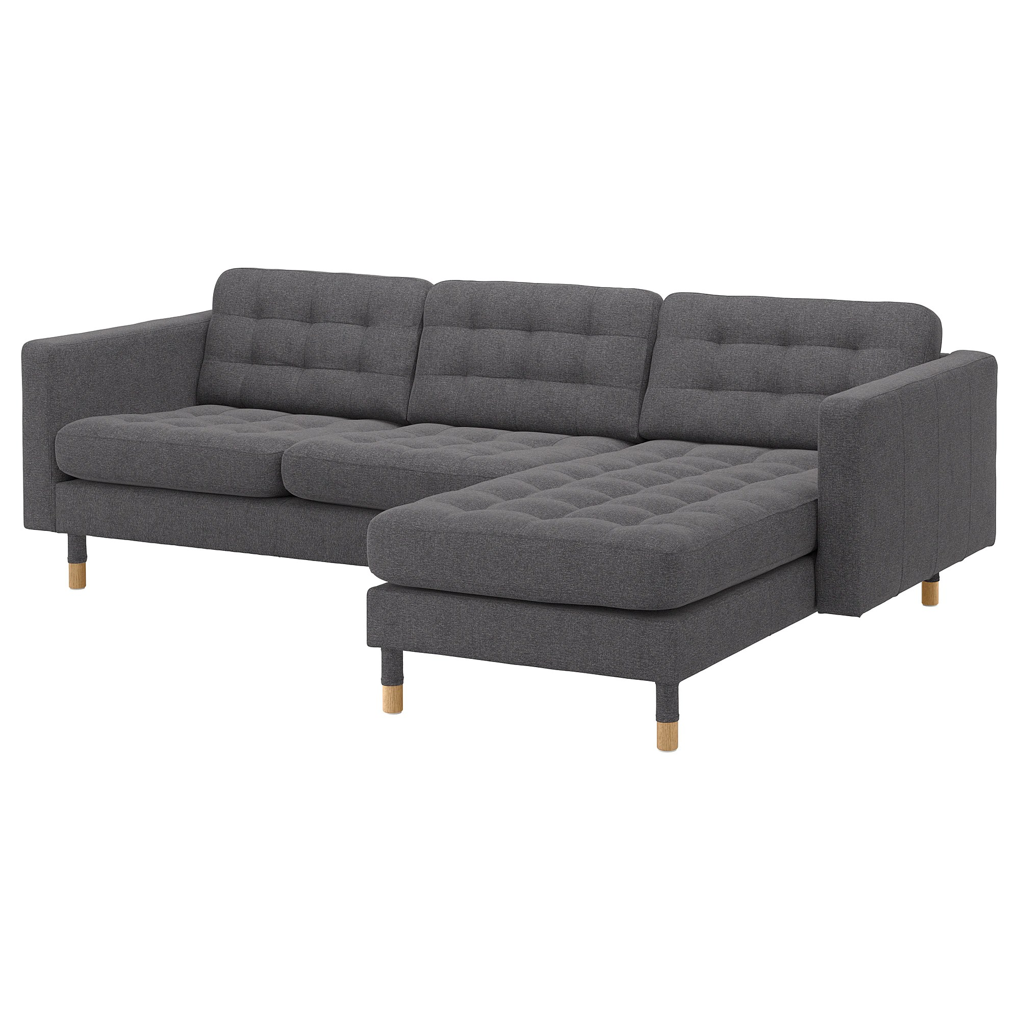 Sofa 60er Landskrona Sofa With Chaise Gunnared Dark Gray Metal