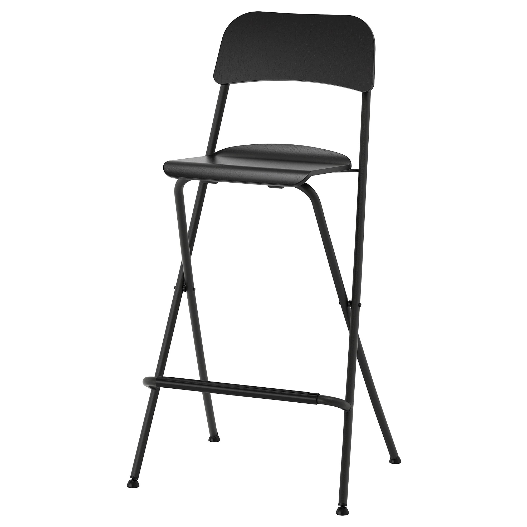 Bar Stool Chairs Franklin Bar Stool With Backrest Foldable Black Black