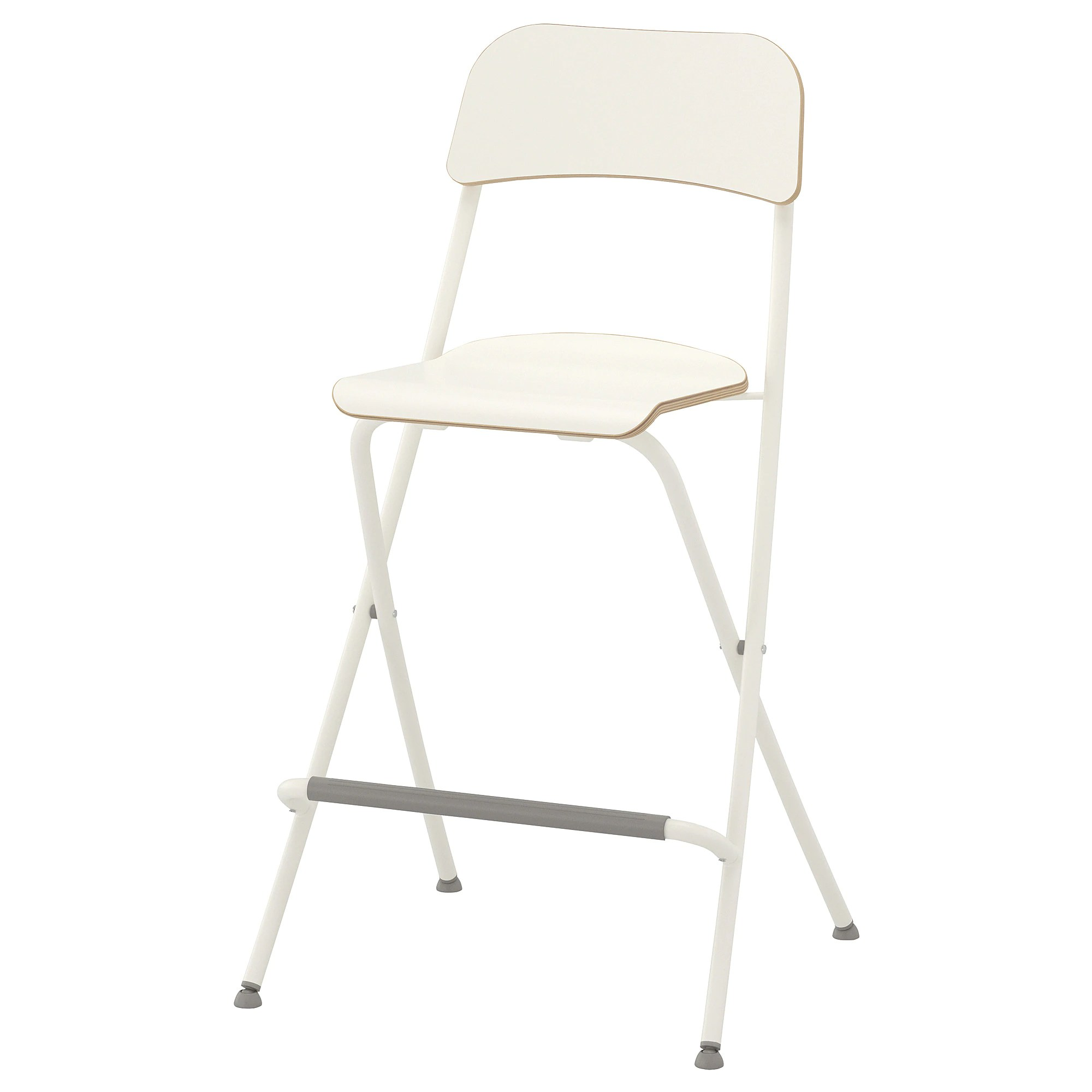 Stool Chair Franklin Bar Stool With Backrest Foldable White White