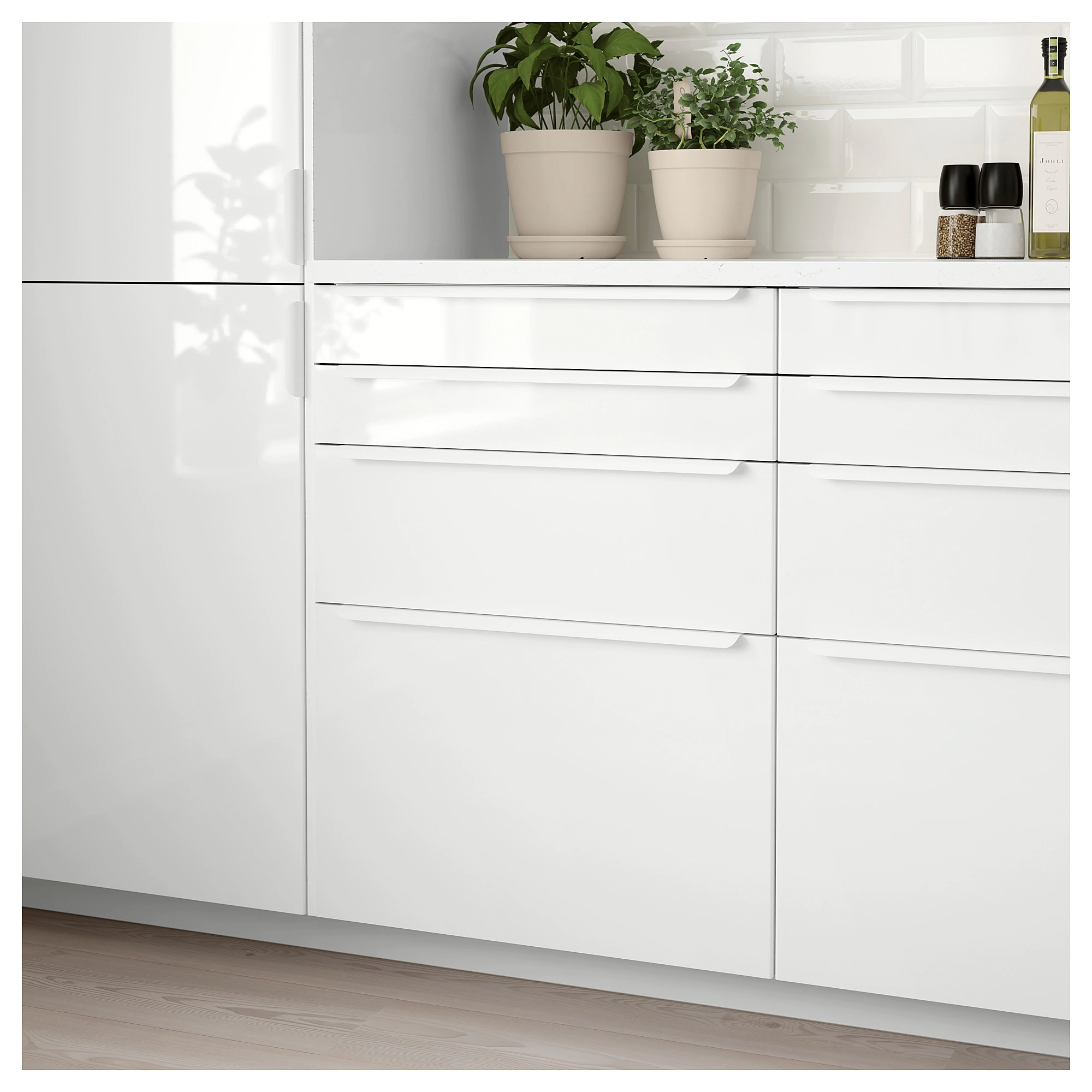 Cucina Ikea Ringhult Ringhult Frontale Cassetto Lucido Bianco