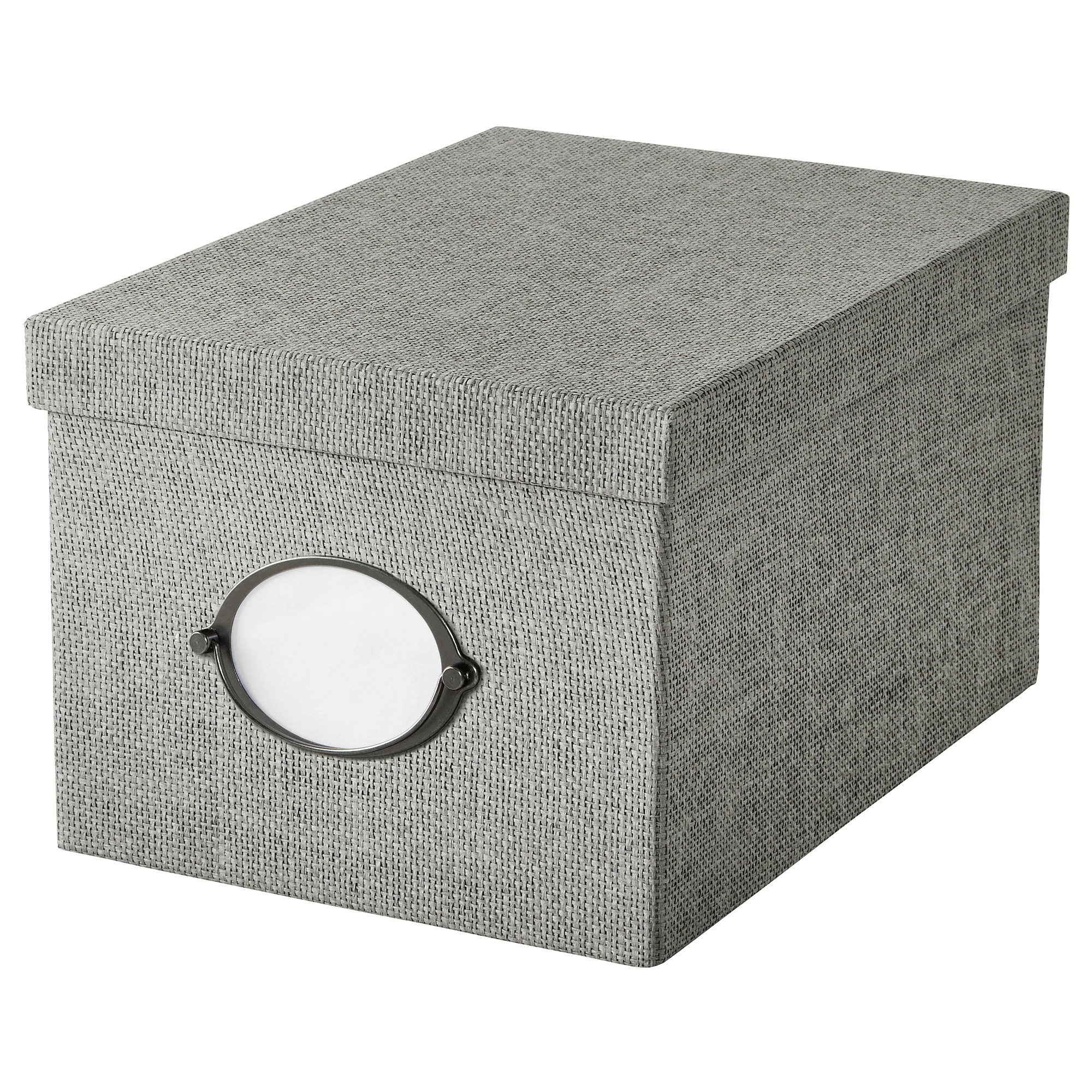 Ikea Box Holder Kvarnvik Storage Box With Lid Gray