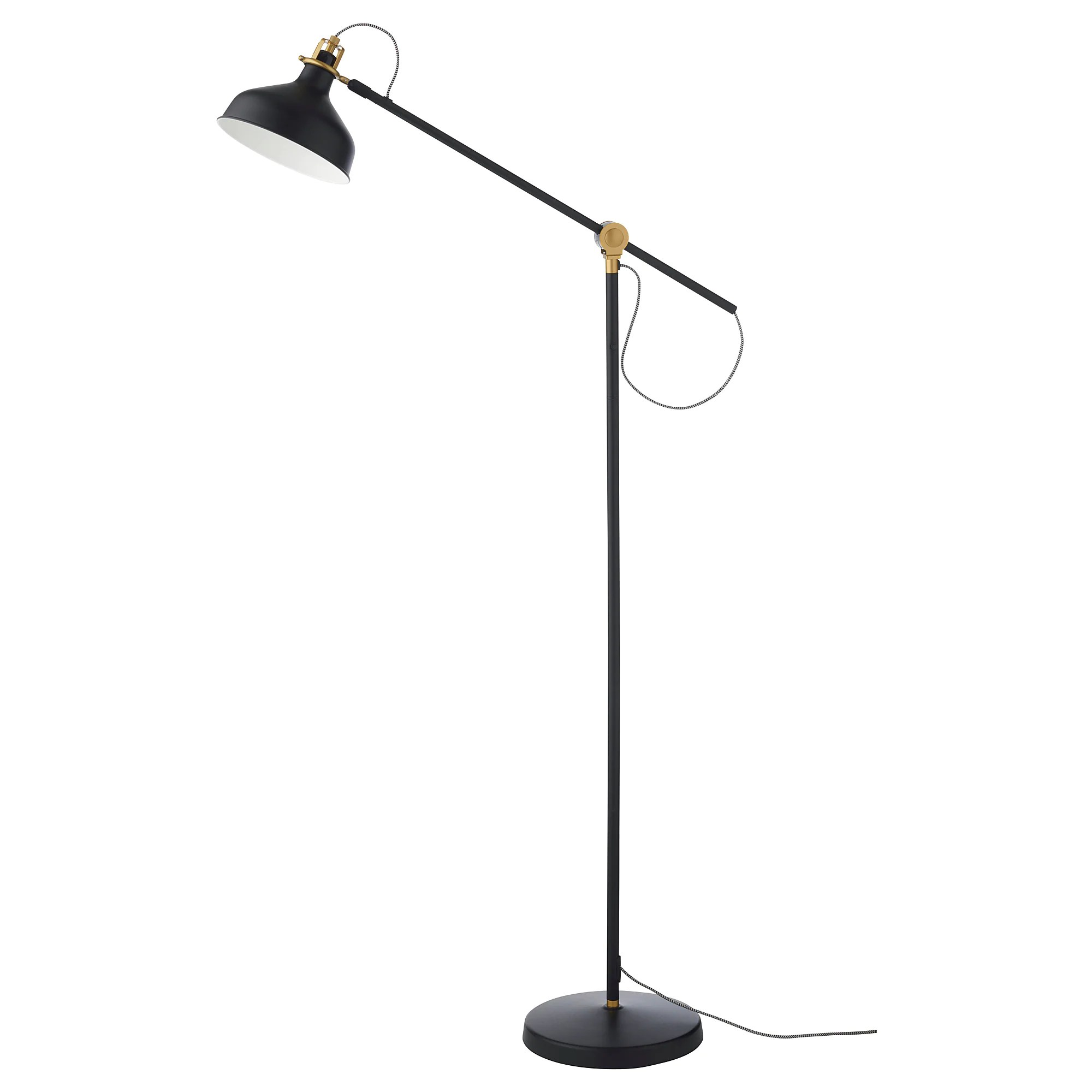Gold Floor Reading Lamp Ranarp Floor Reading Lamp With Led Bulb Black
