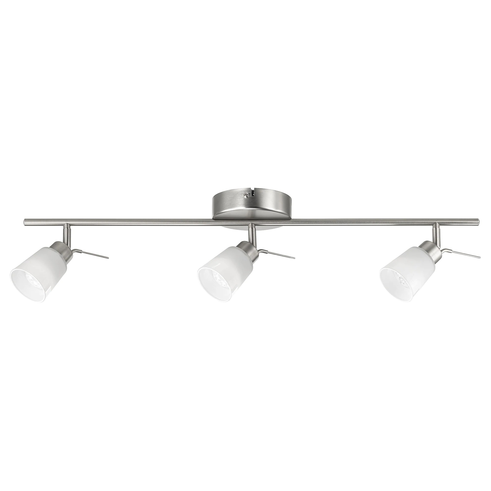 Led Hanglamp Ikea Basisk Ceiling Track 3 Spotlights Nickel Plated White