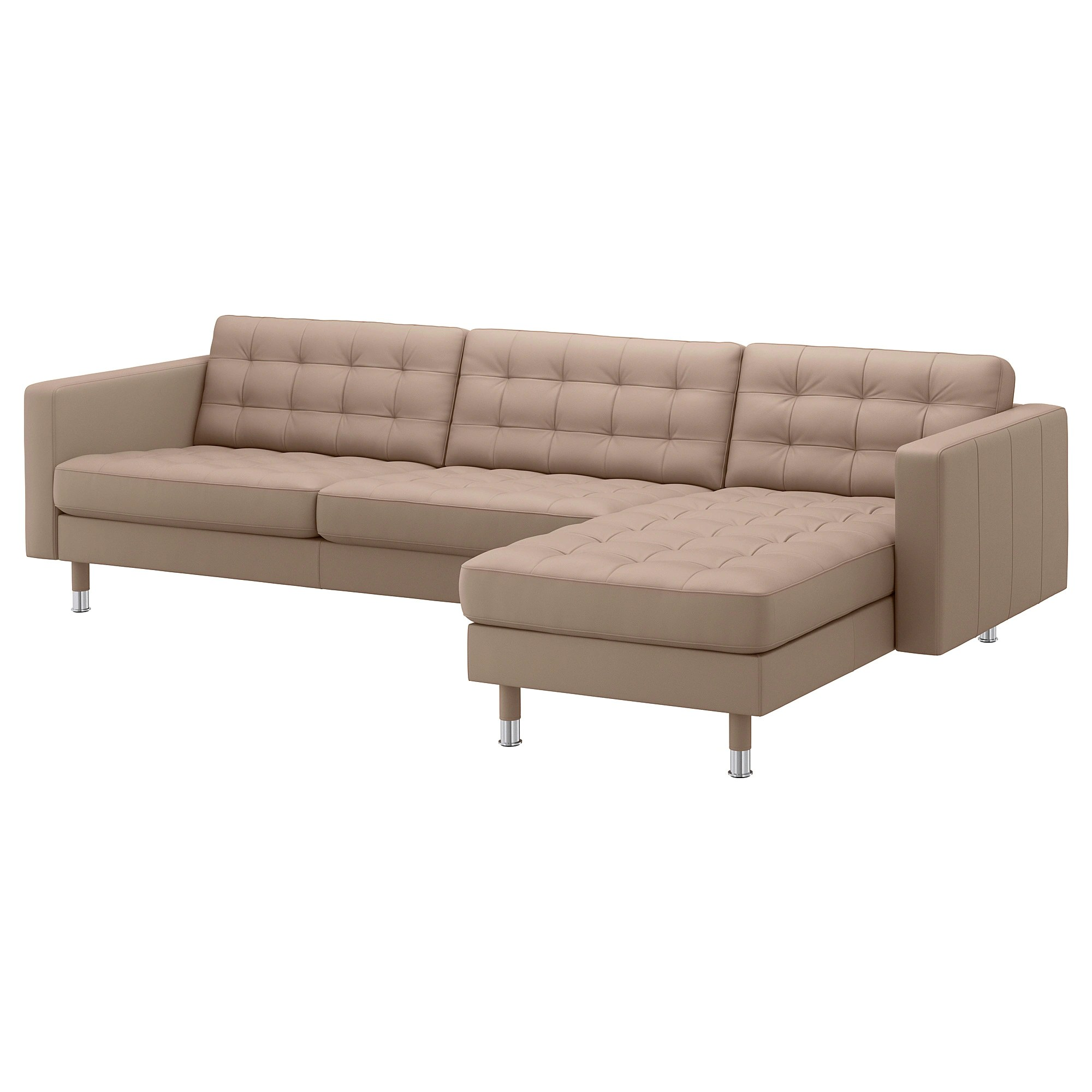 Dreisitzer Sofa Ikea Landskrona Sectional 4 Seat With Chaise Grann Bomstad Gray Green Wood