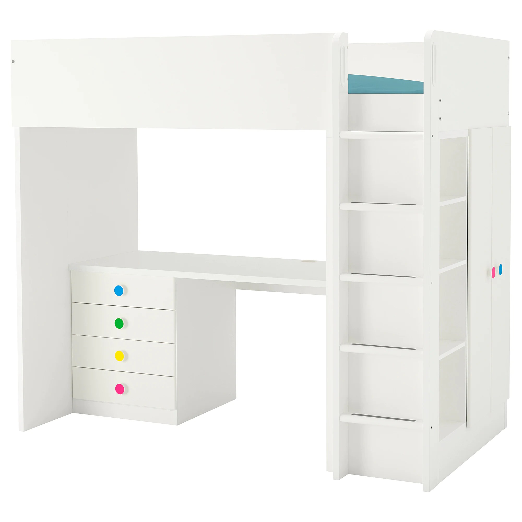 Stuva Lit Stuva FÖlja Loft Bed Combo W 4 Drawers 2 Doors White