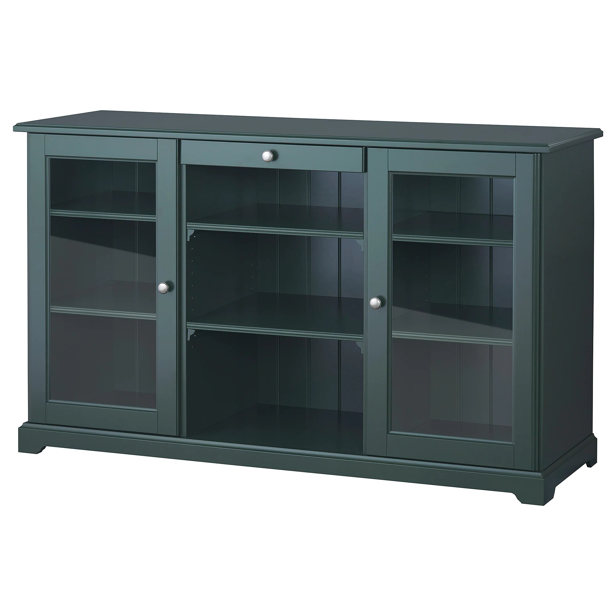 Cuisine Gris Turquoise Ikea Liatorp Sideboard Dark Olive Green