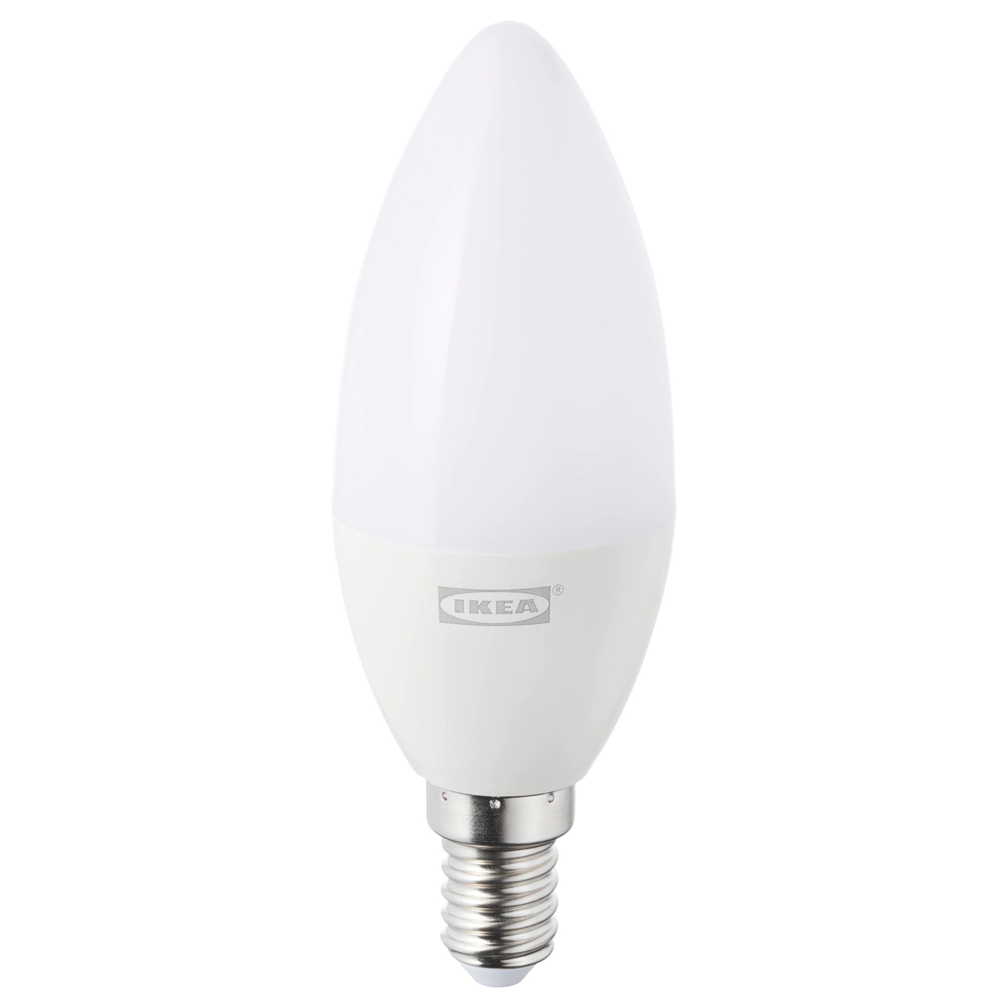 Ikea Tradfri TrÅdfri Led Bulb E12 400 Lumen Wireless Dimmable Warm White Chandelier Opal