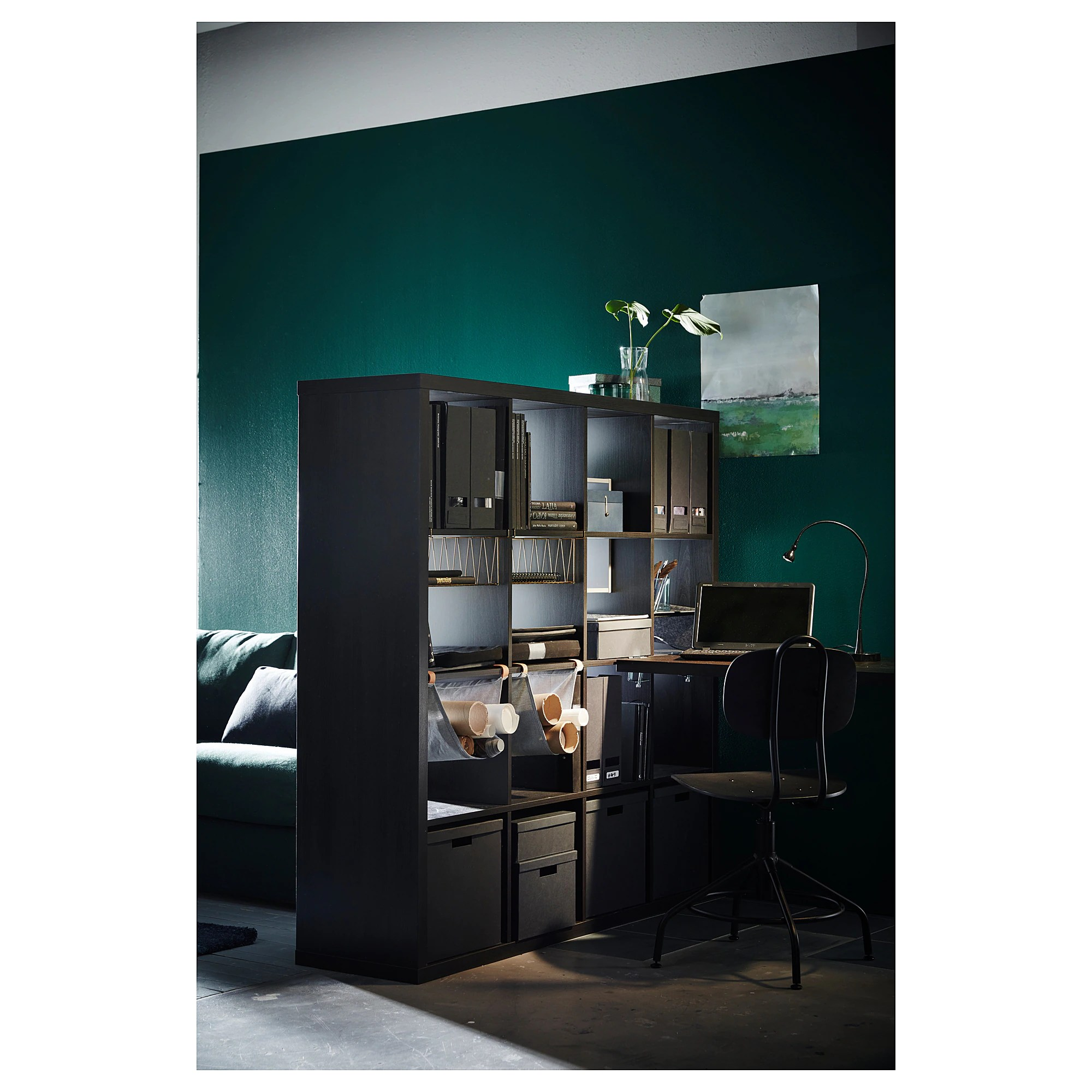 Ikea Küche Expedit Kallax Shelf Unit Black Brown