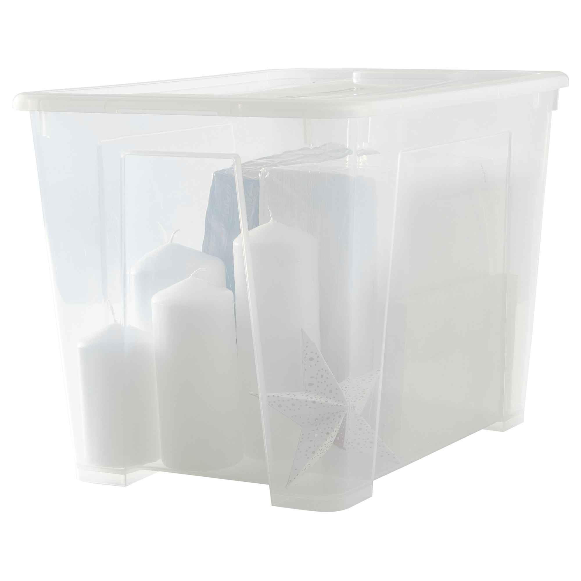 Aufbewahrungsbox Ikea Expedit Samla Box With Lid Clear