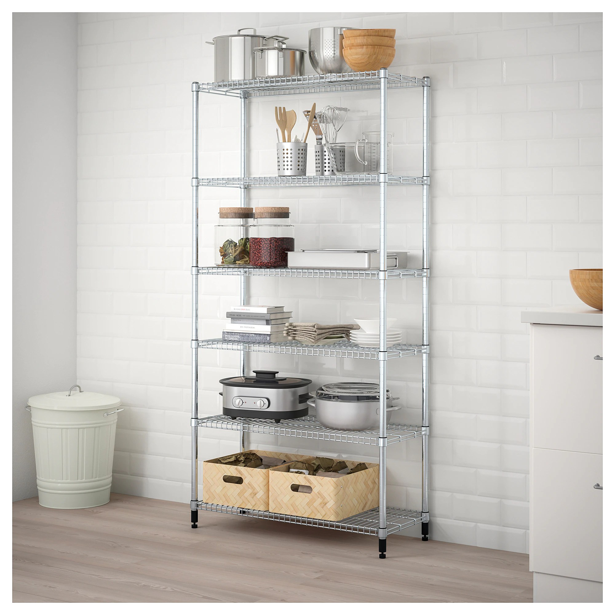Gaderobe Ikea Omar 1 Section Shelving Unit
