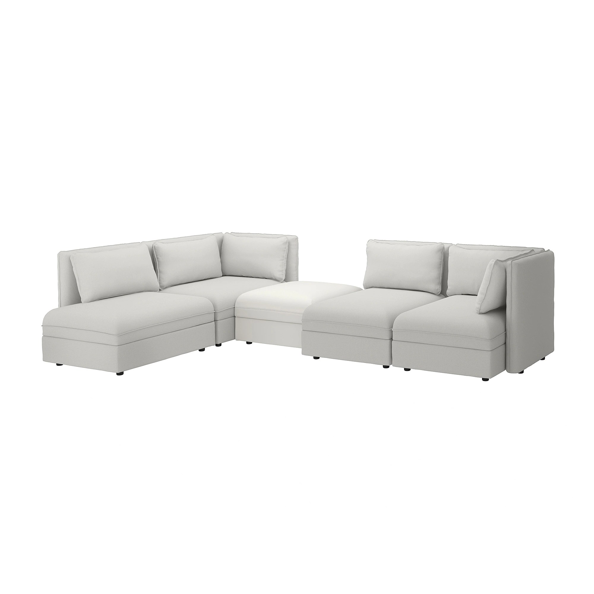 Vallentuna 4 Seat Modular Sofa With 3 Beds Vallentuna Modular Corner Sofa 4 Seat With Storage Orrsta Murum Light Gray White