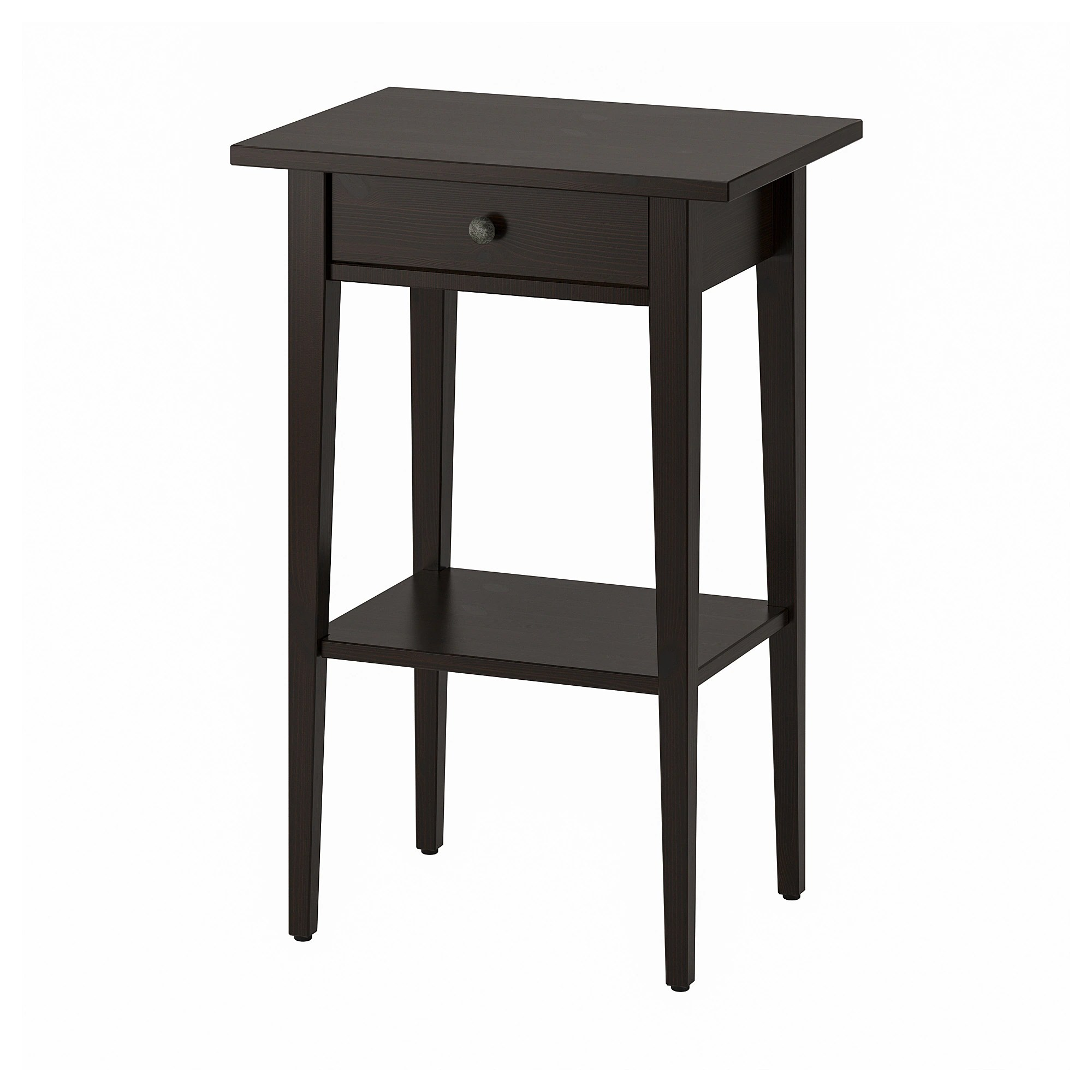 Ikea Table Hemnes Nightstand Black Brown