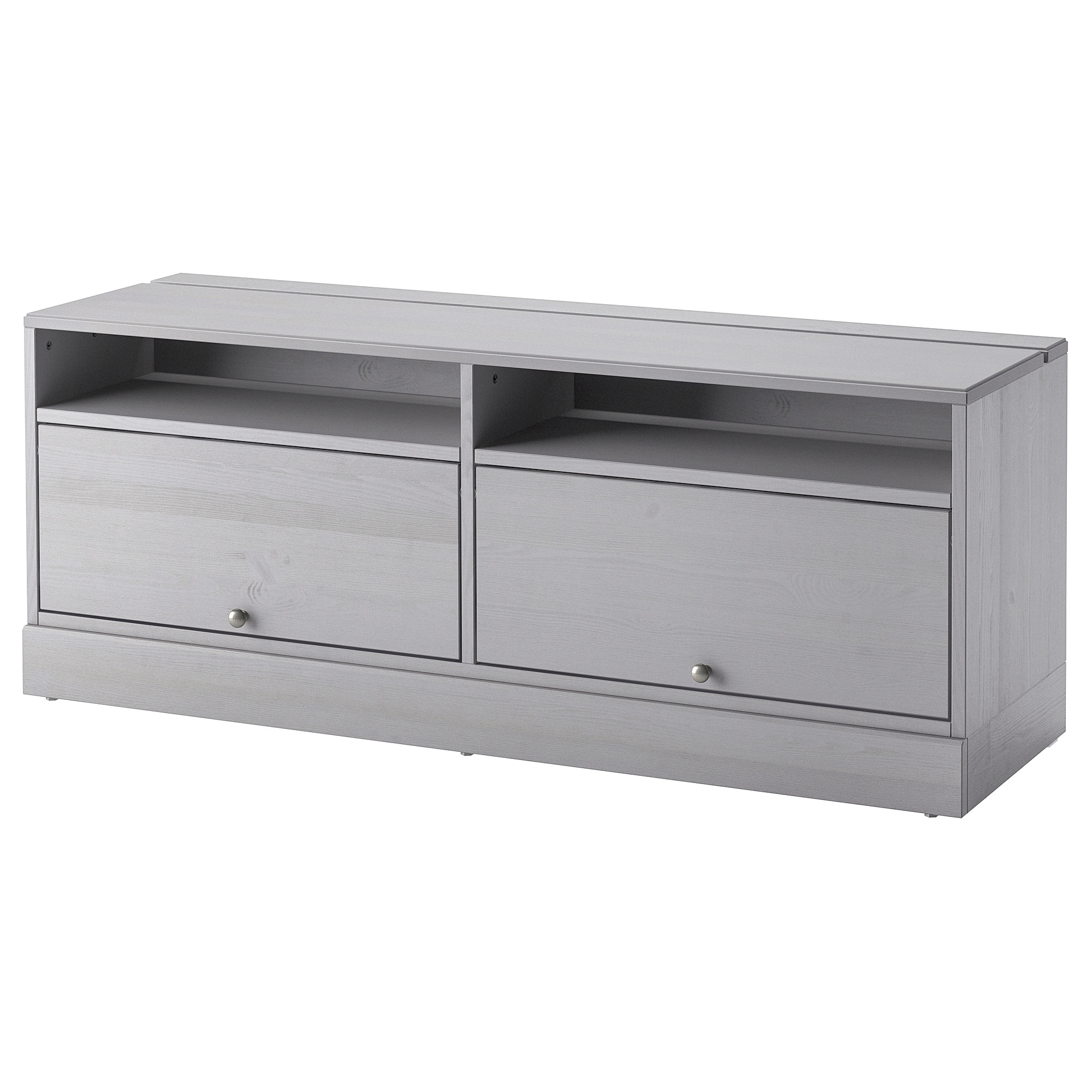 Console Grise Ikea Tv Bench With Plinth Havsta Grey