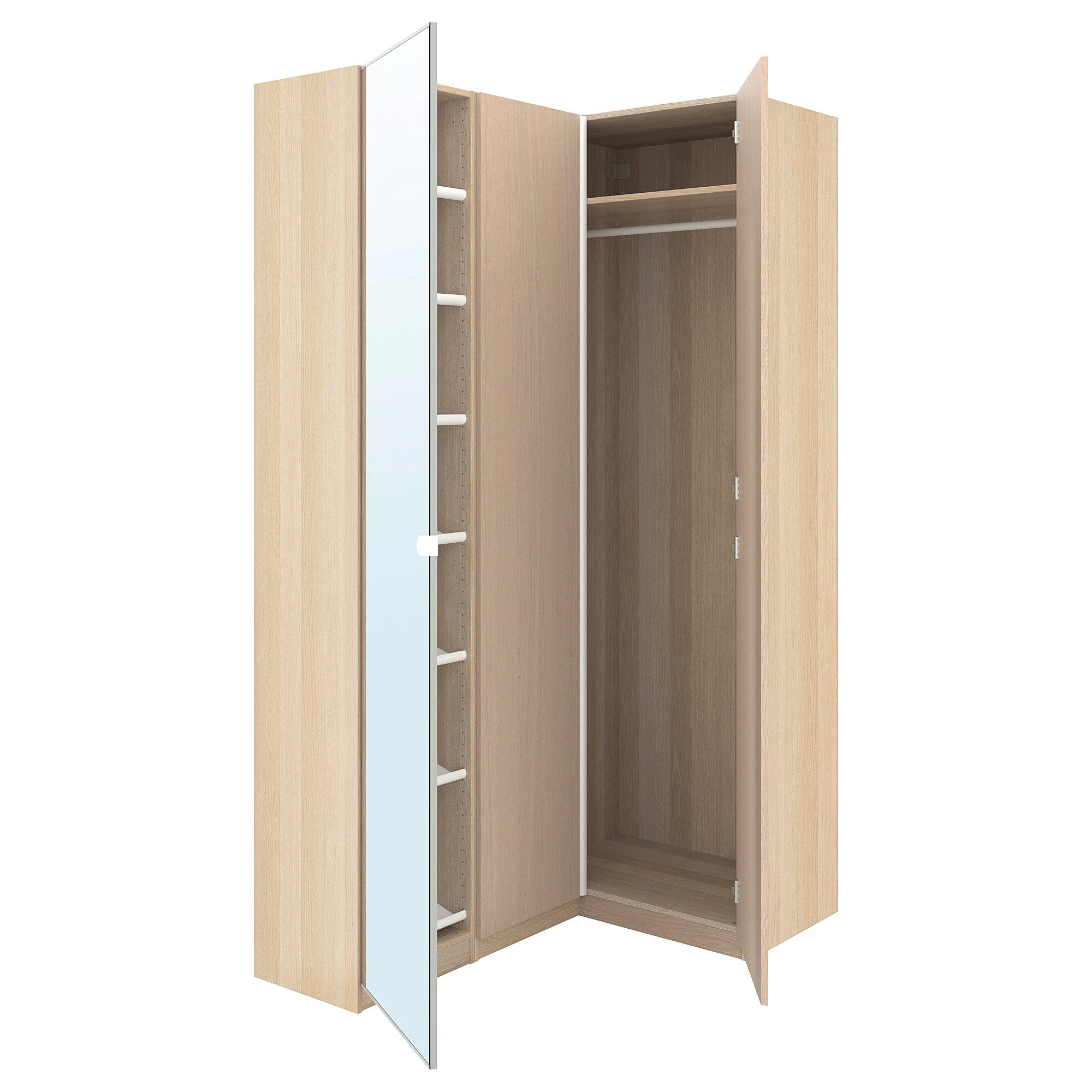 Corner Wardrobe Pax Corner Wardrobe White Stained Oak Effect Nexus Vikedal