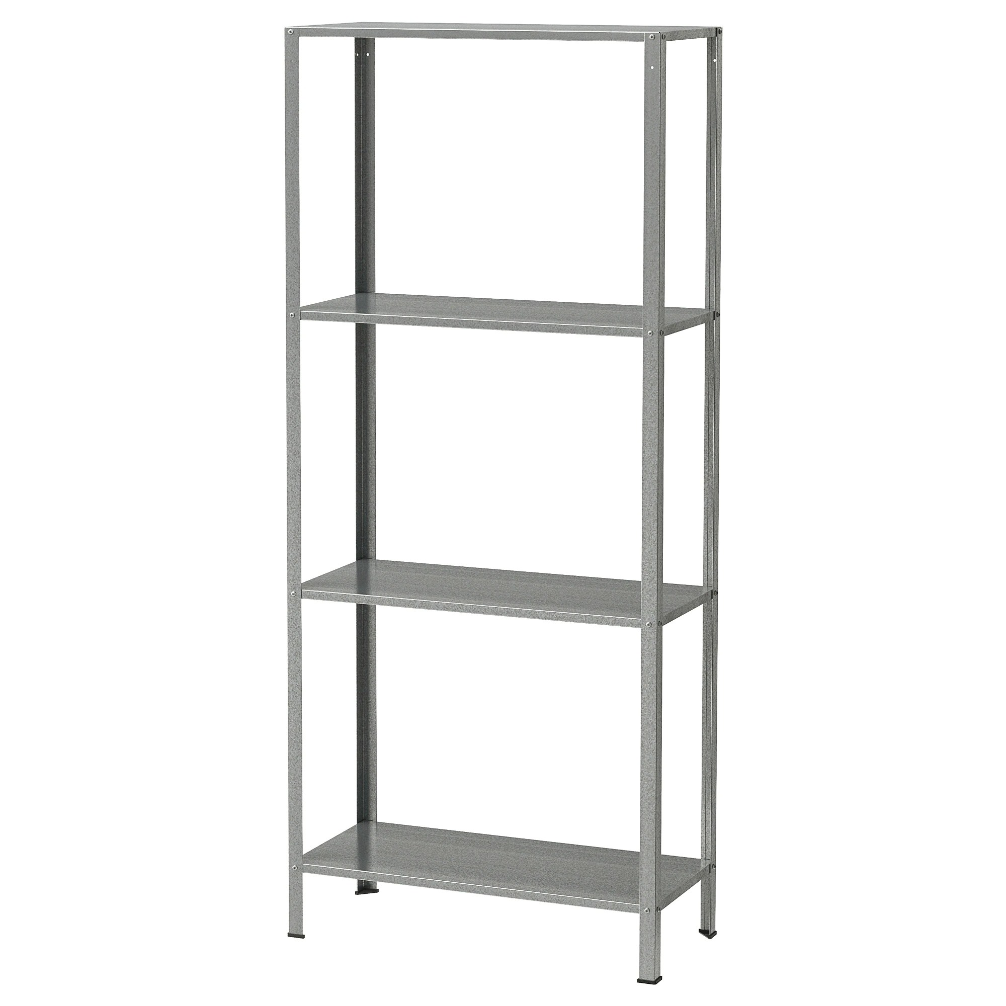 Ikea Vesken Hyllis Shelf Unit Indoor Outdoor Galvanized Ikea