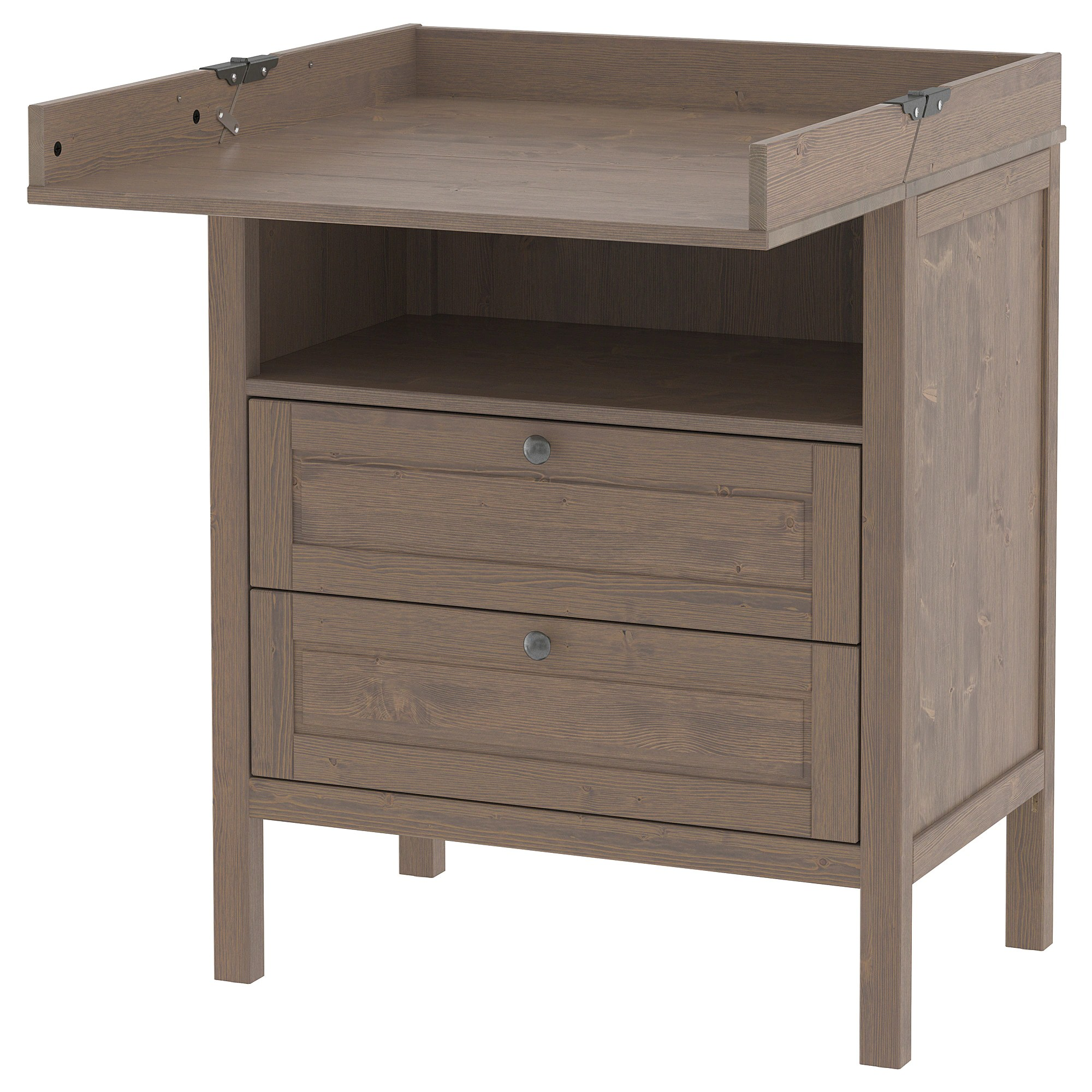 Changing Table Chest Of Drawers Sundvik Changing Table Chest Of Drawers Grey Brown