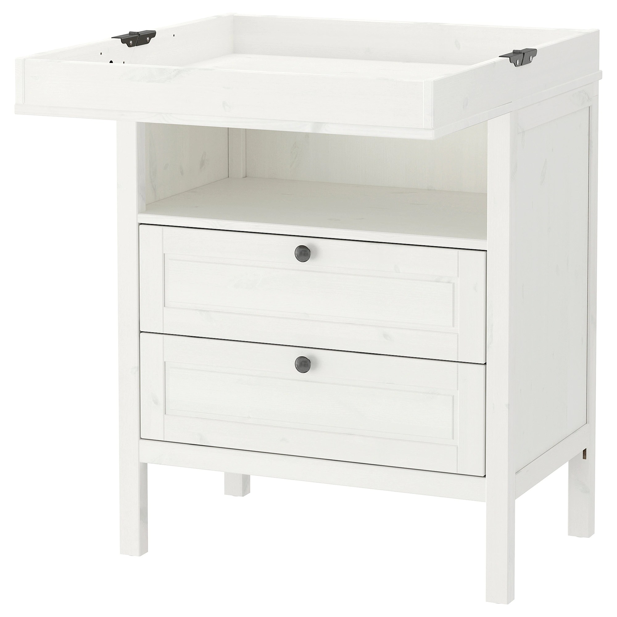 Changing Table Chest Of Drawers Sundvik Changing Table Chest White
