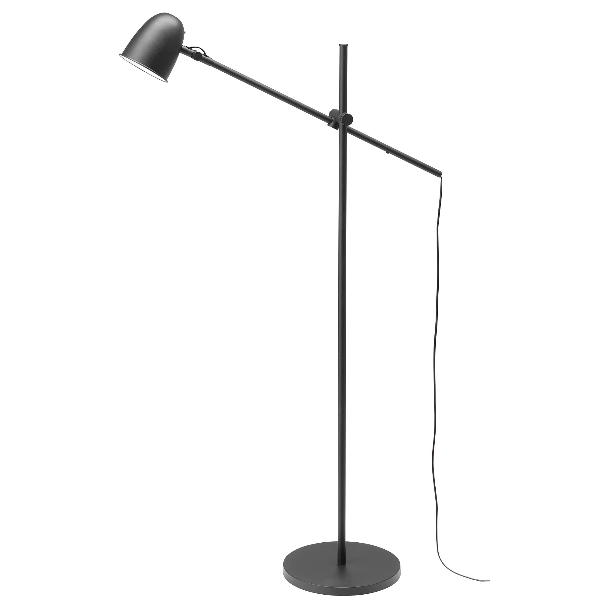 Ikea Reading Lamp Skurup Floor Reading Lamp With Led Bulb Black