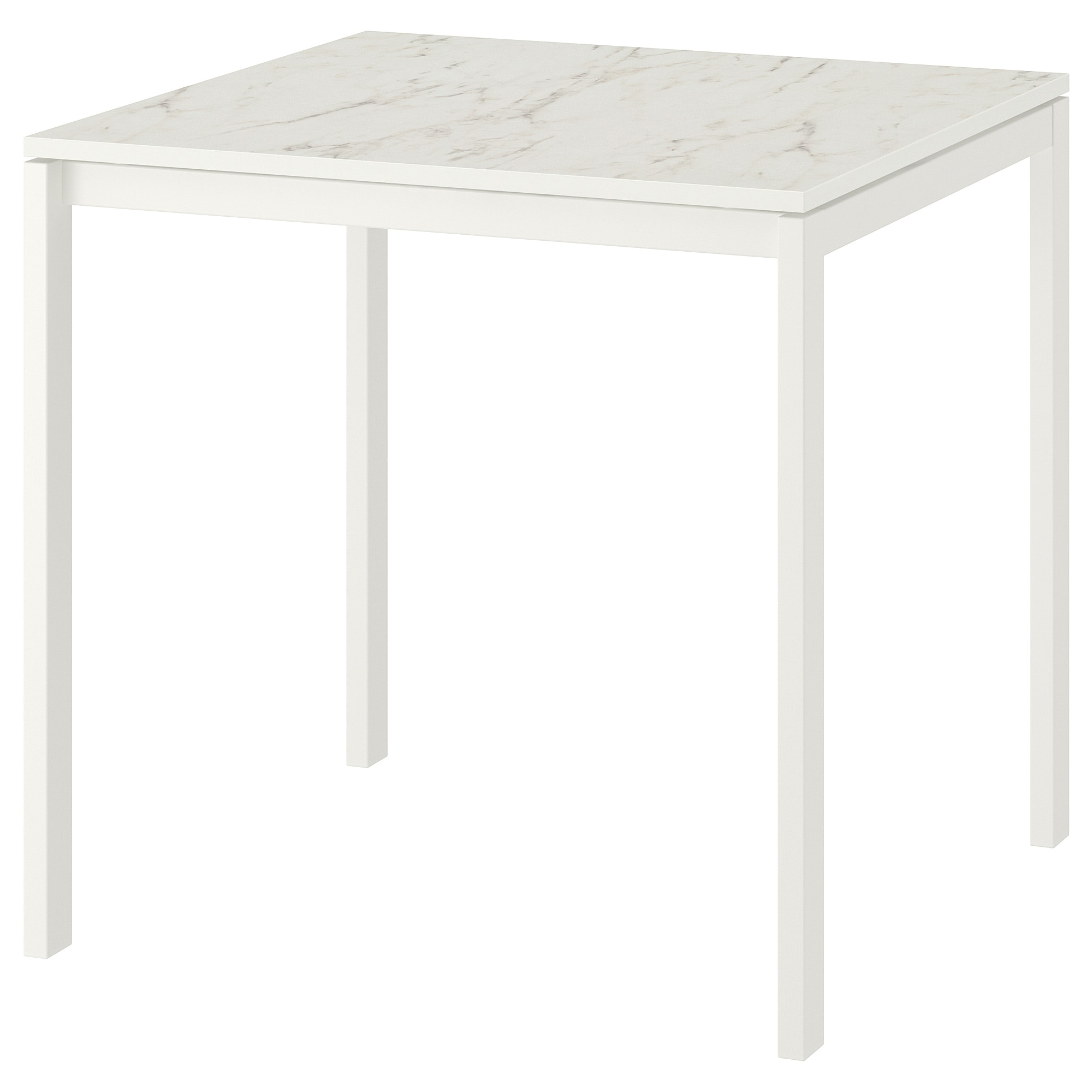Marmortisch Ikea Table Melltorp White Marble White