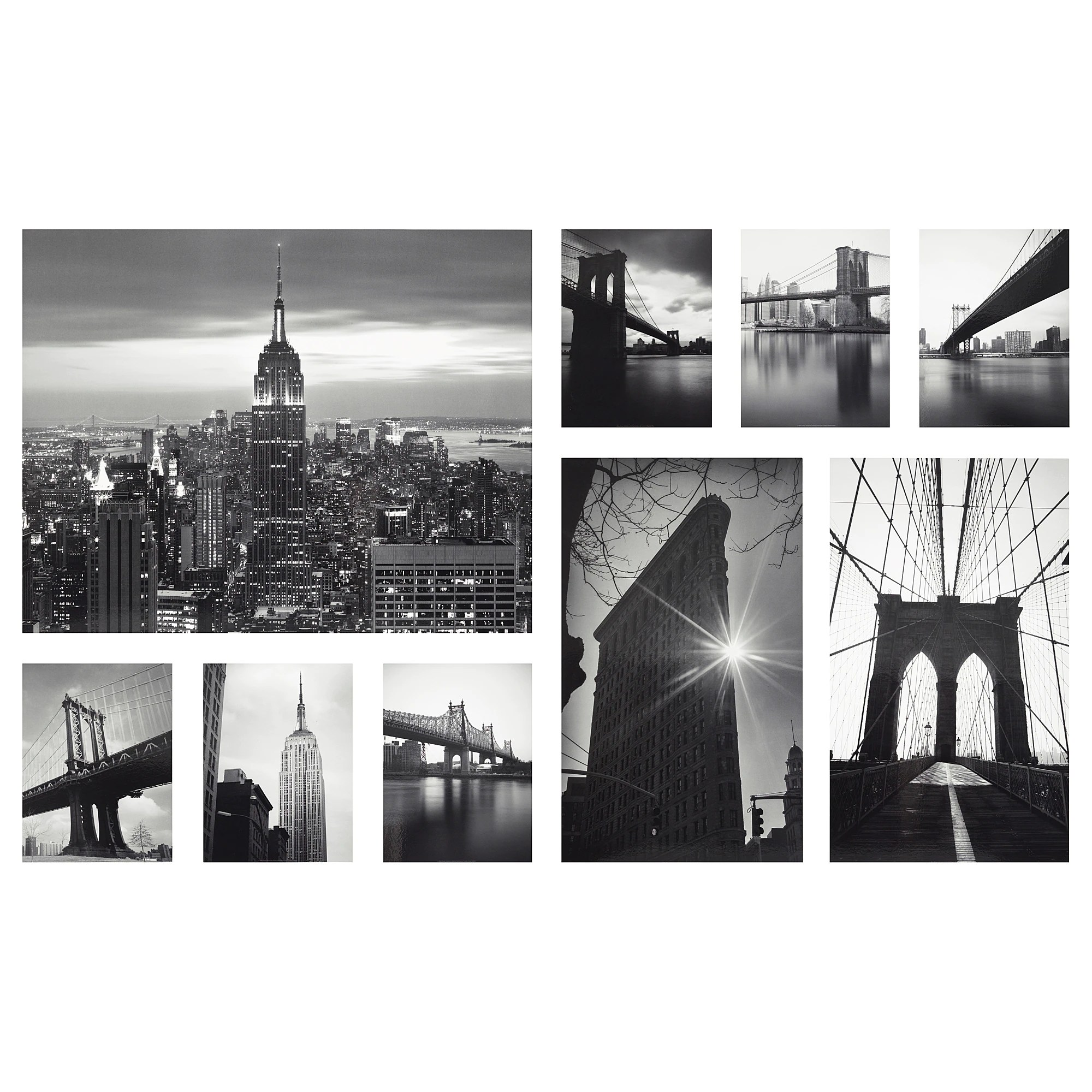 New York Poster Ikea Picture Set Of 9 GrÖnby Sights Of The City