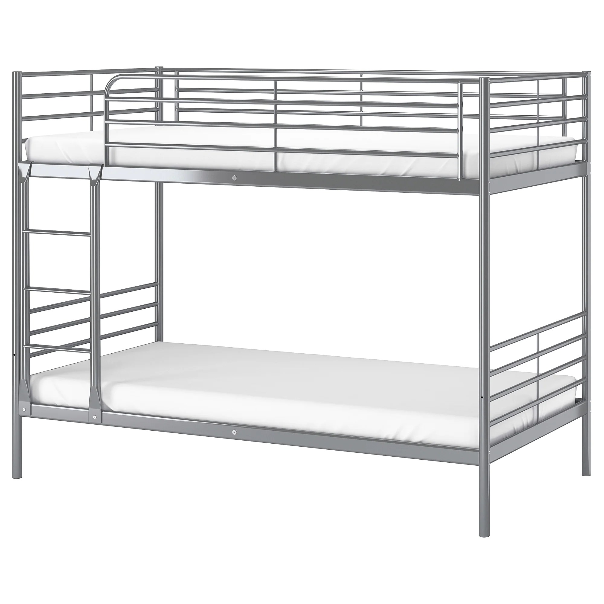 Ikea Iron Bed Bunk Bed Frame SvÄrta Silver Colour