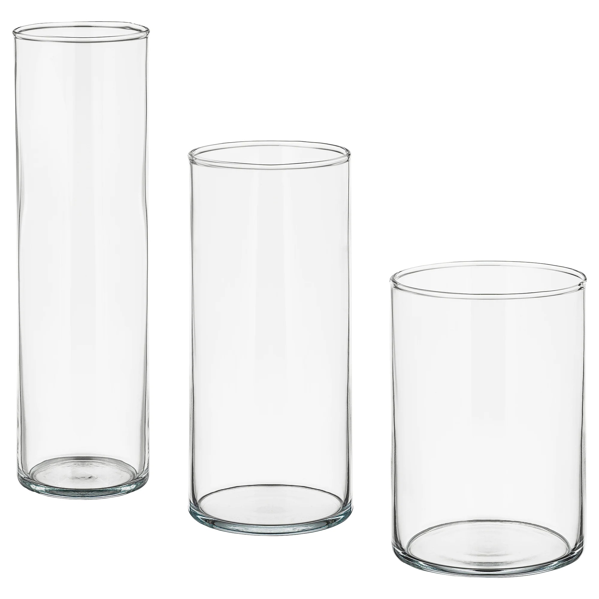 Glass Vases Ikea Cylinder Vase Set Of 3 Clear Glass