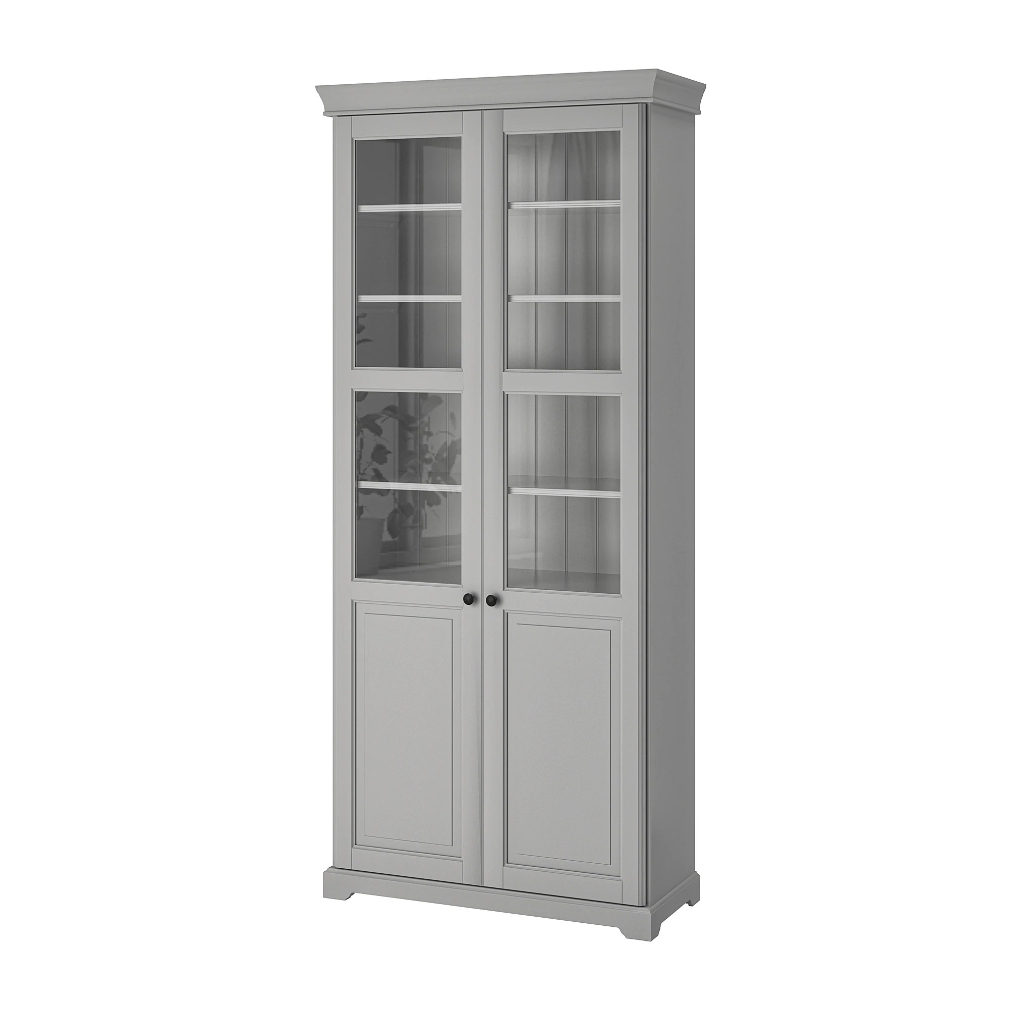 Bookcase Cabinet Liatorp Bookcase With Glass Doors White