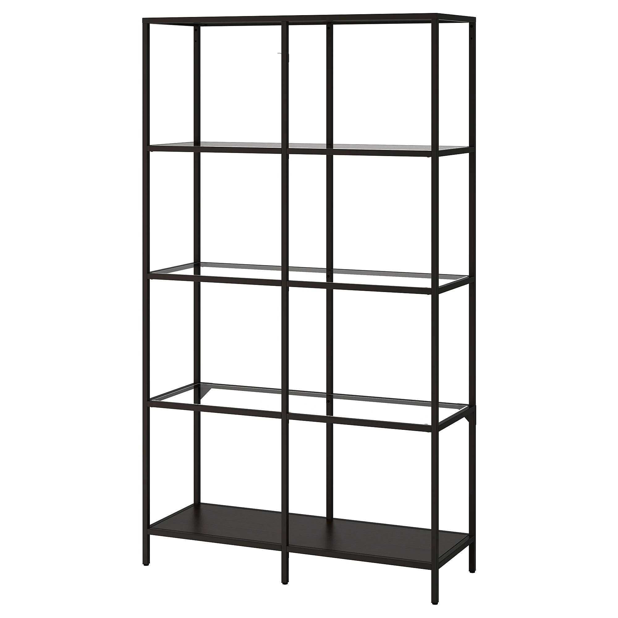 Metal Shelving VittsjÖ Shelf Unit Black Brown Glass