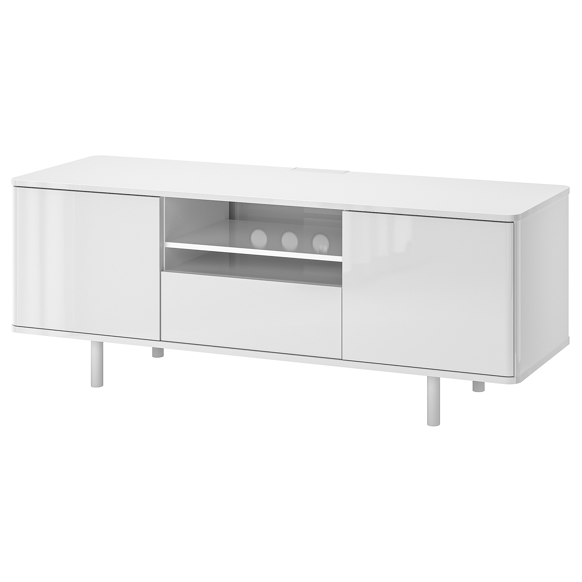 Ikea Tv Sideboard Mostorp Tv Meubel Wit Hoogglans Wit