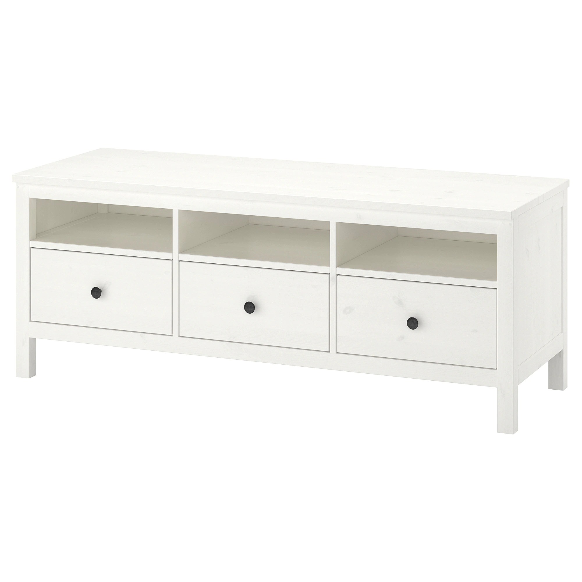 Meuble Tv 110 Cm Design Hemnes Tv Bench White Stain