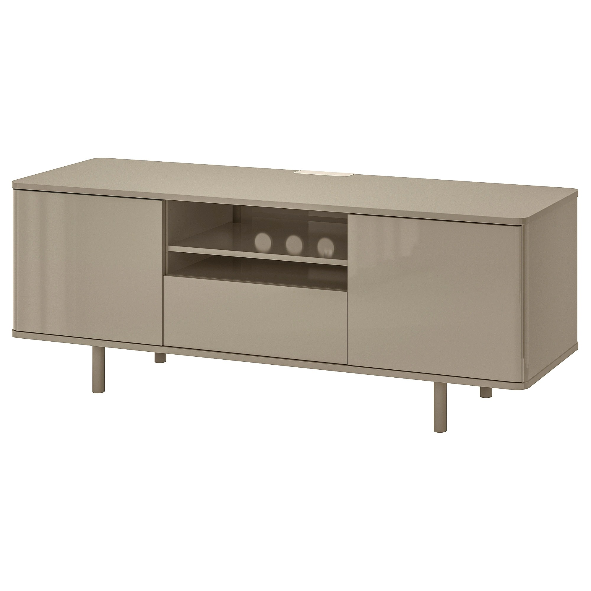 Ikea Bank Code Mostorp Tv Bench Beige High Gloss Beige