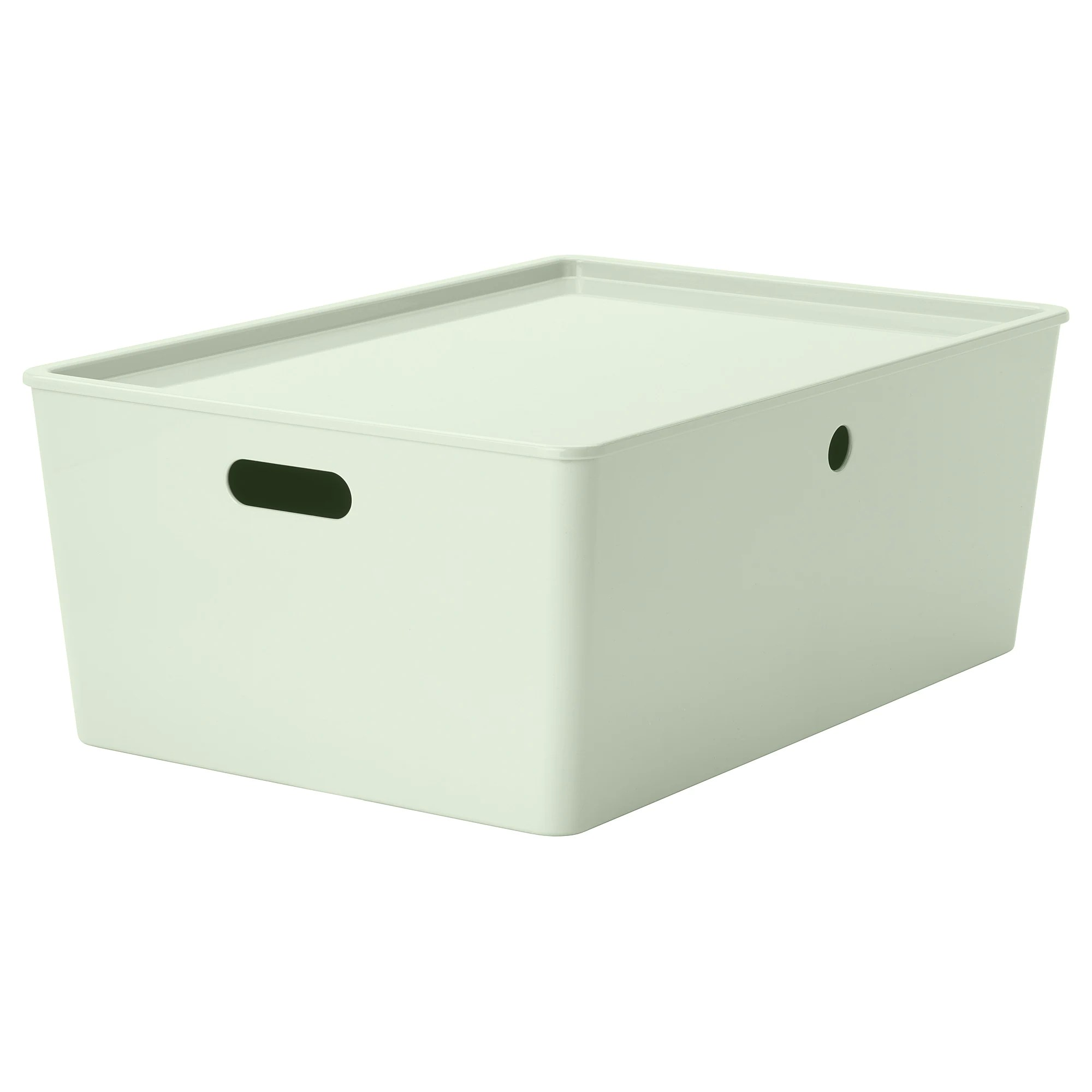 Ikea Küche Kinder Family Card Kuggis Storage Box With Lid Light Green