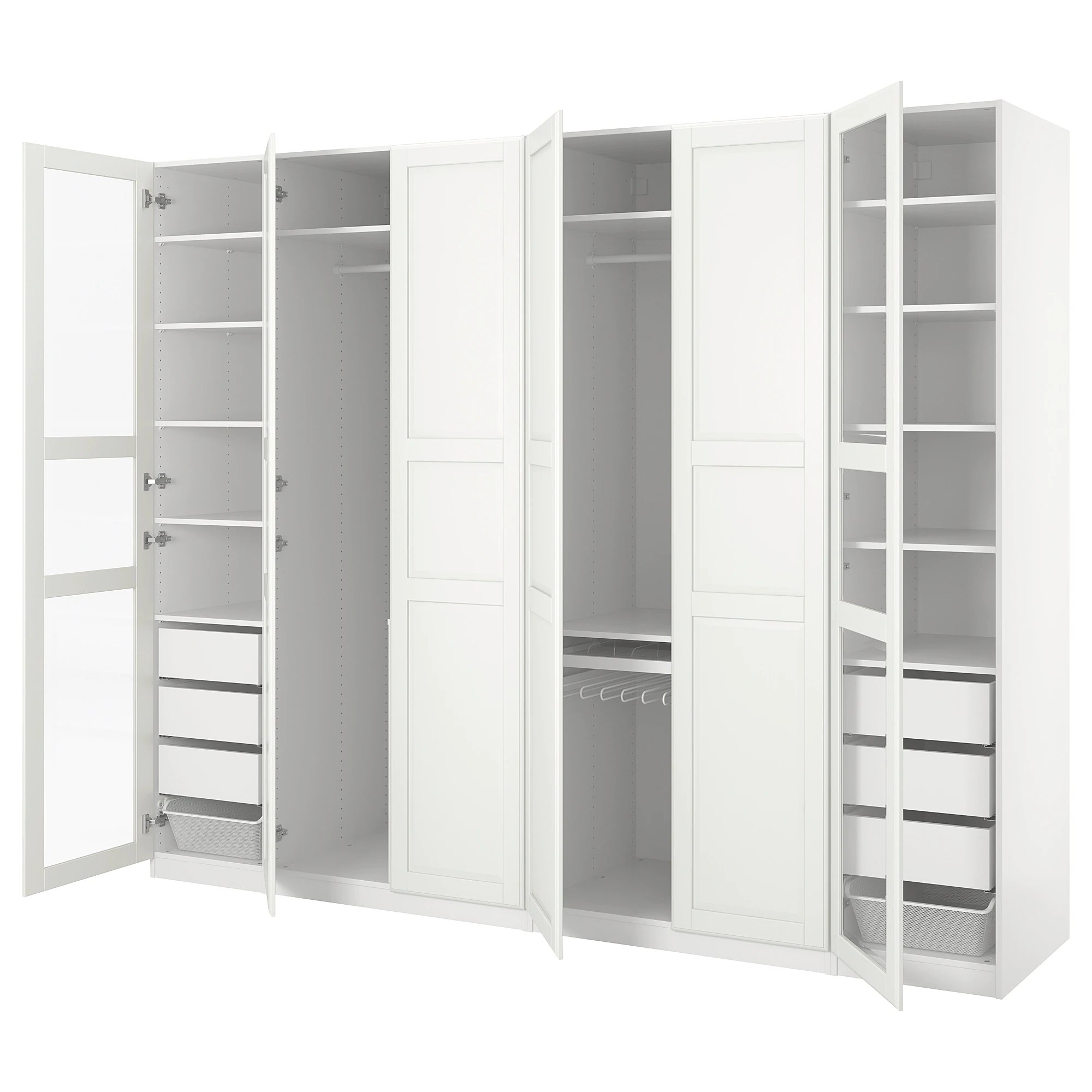 Ikea Pax Click And Collect Pax Wardrobe White Tyssedal Tyssedal Glass