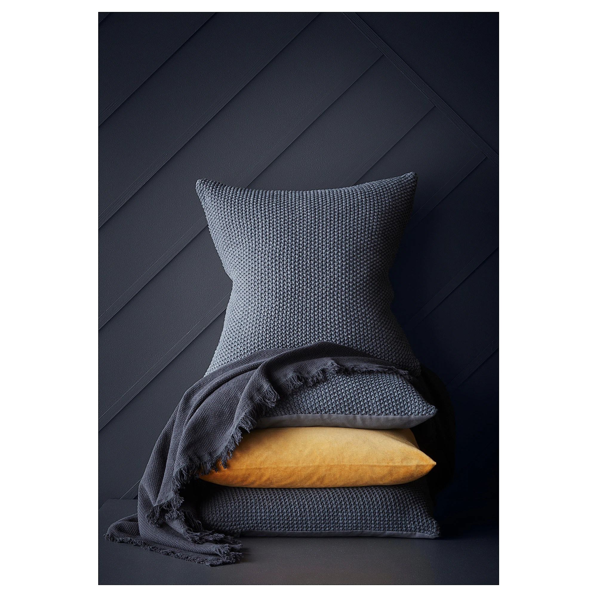 Fluffy Kissen Dorthe Cushion Dark Gray