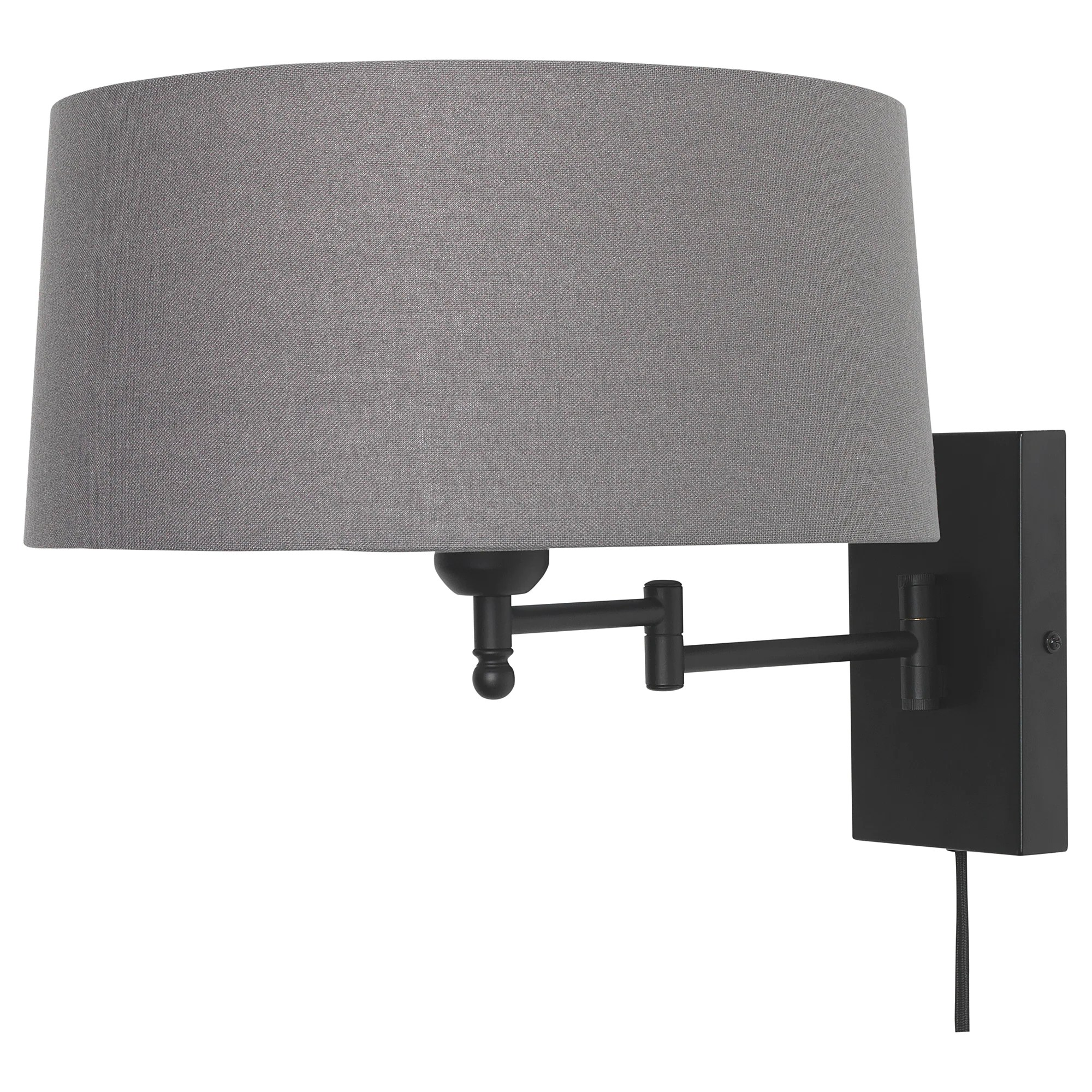 Arm Lamp Halkip Wall Lamp With Swing Arm Gray