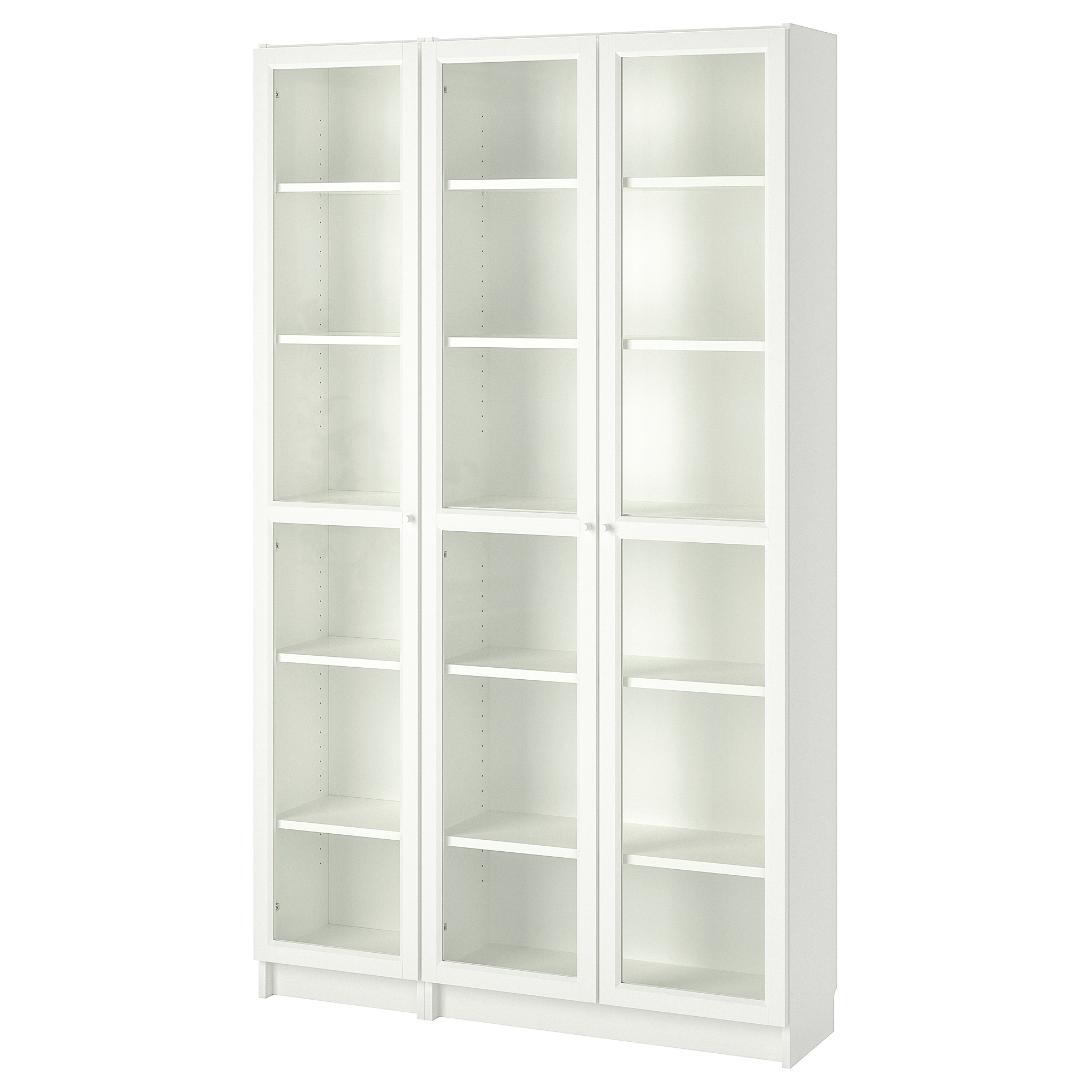 Bookcase Cabinet Billy Oxberg Bookcase With Glass Doors White