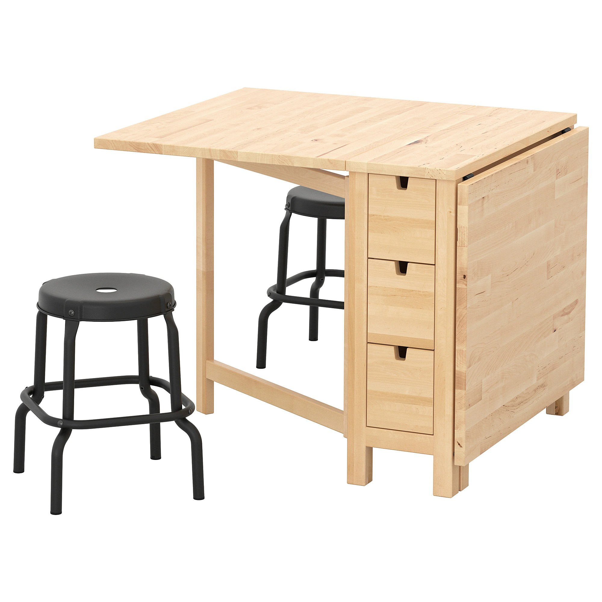 Mesa Norden Ikea Norden RÅskog Table And 2 Stools Birch Black