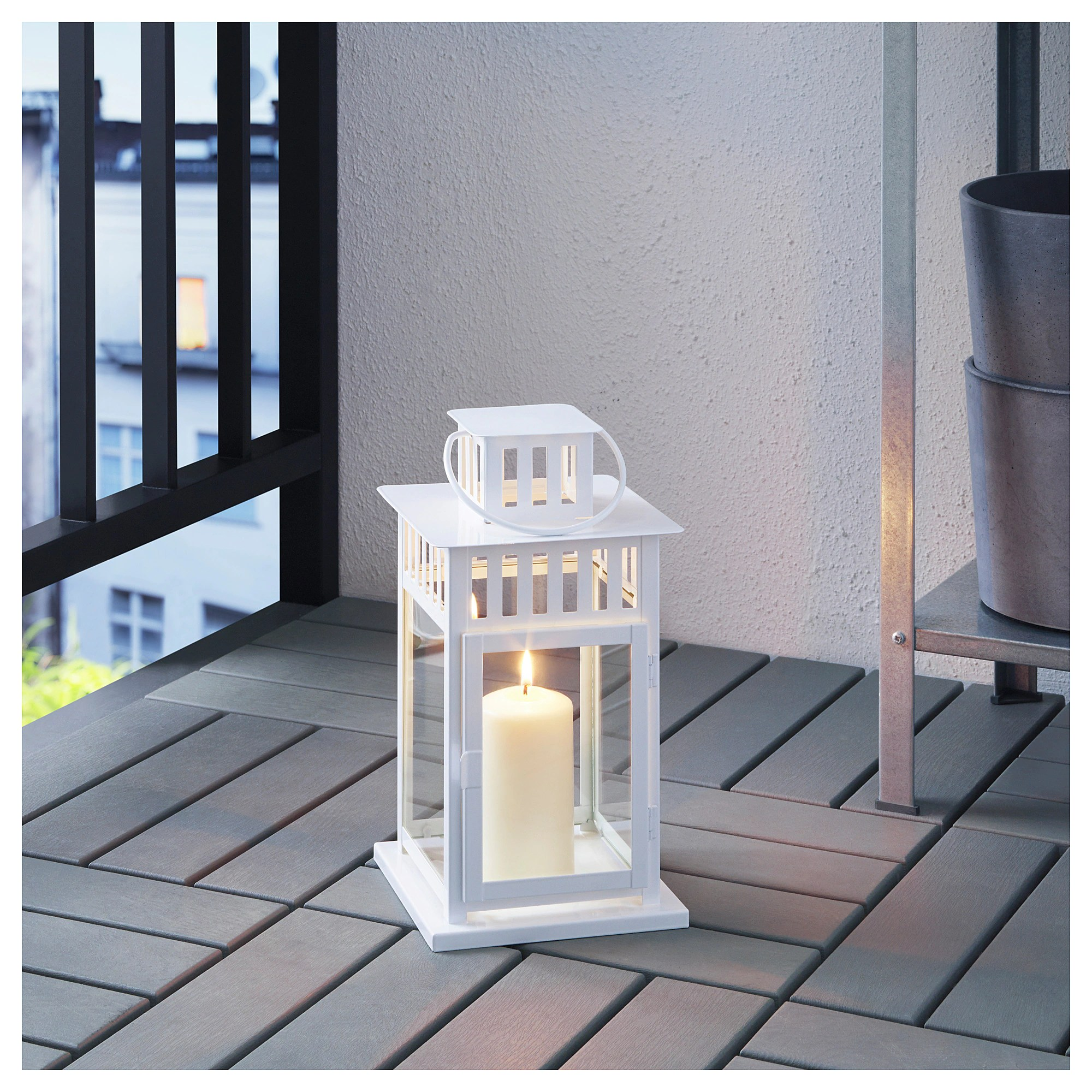 Photophore Ikea Ikea Borrby New White Steel Lantern For Bloc Candles Home Garden