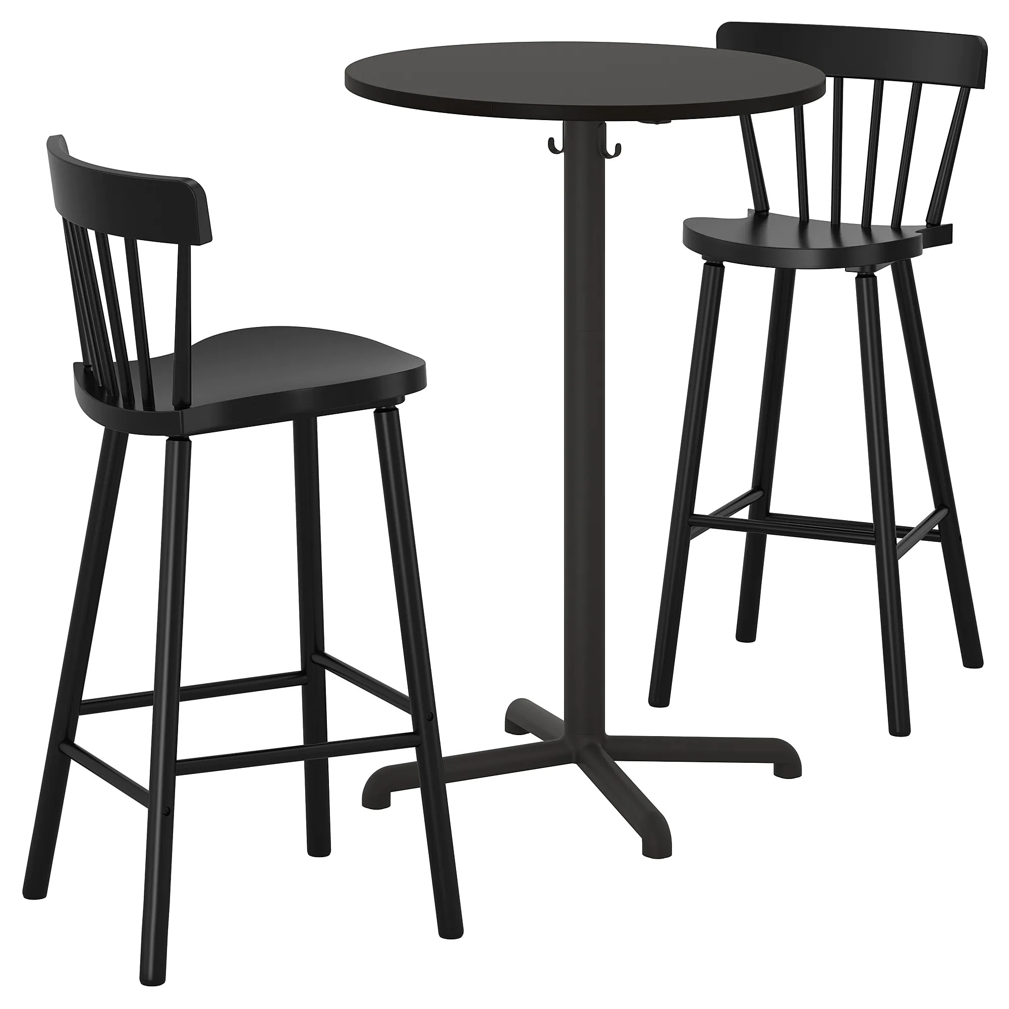 Table And Bar Stools Stensele Norraryd Bar Table And 2 Bar Stools Anthracite Anthracite Black