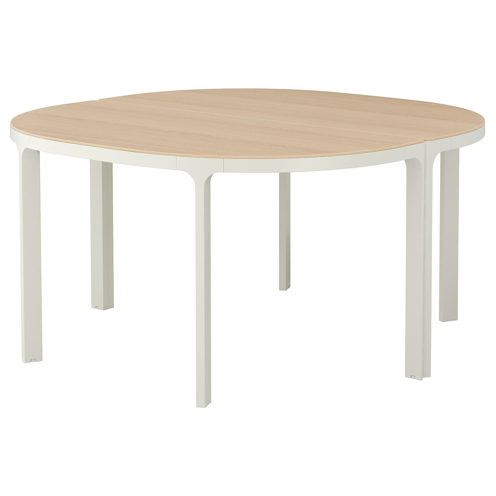 Table 140 Conference Table Bekant White Stained Oak Veneer White